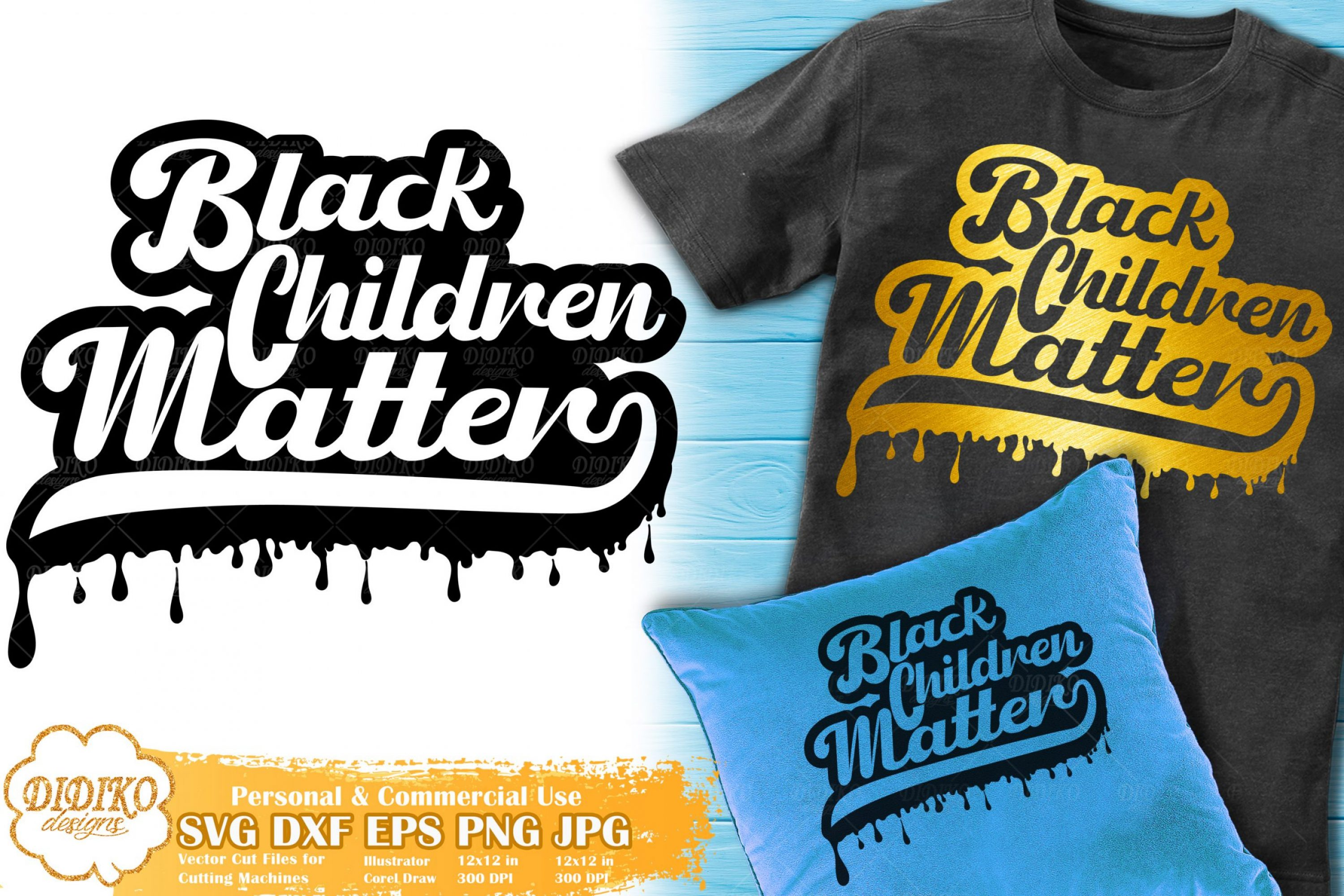 Black Child SVG #1 | Dripping svg | Black Lives Matter
