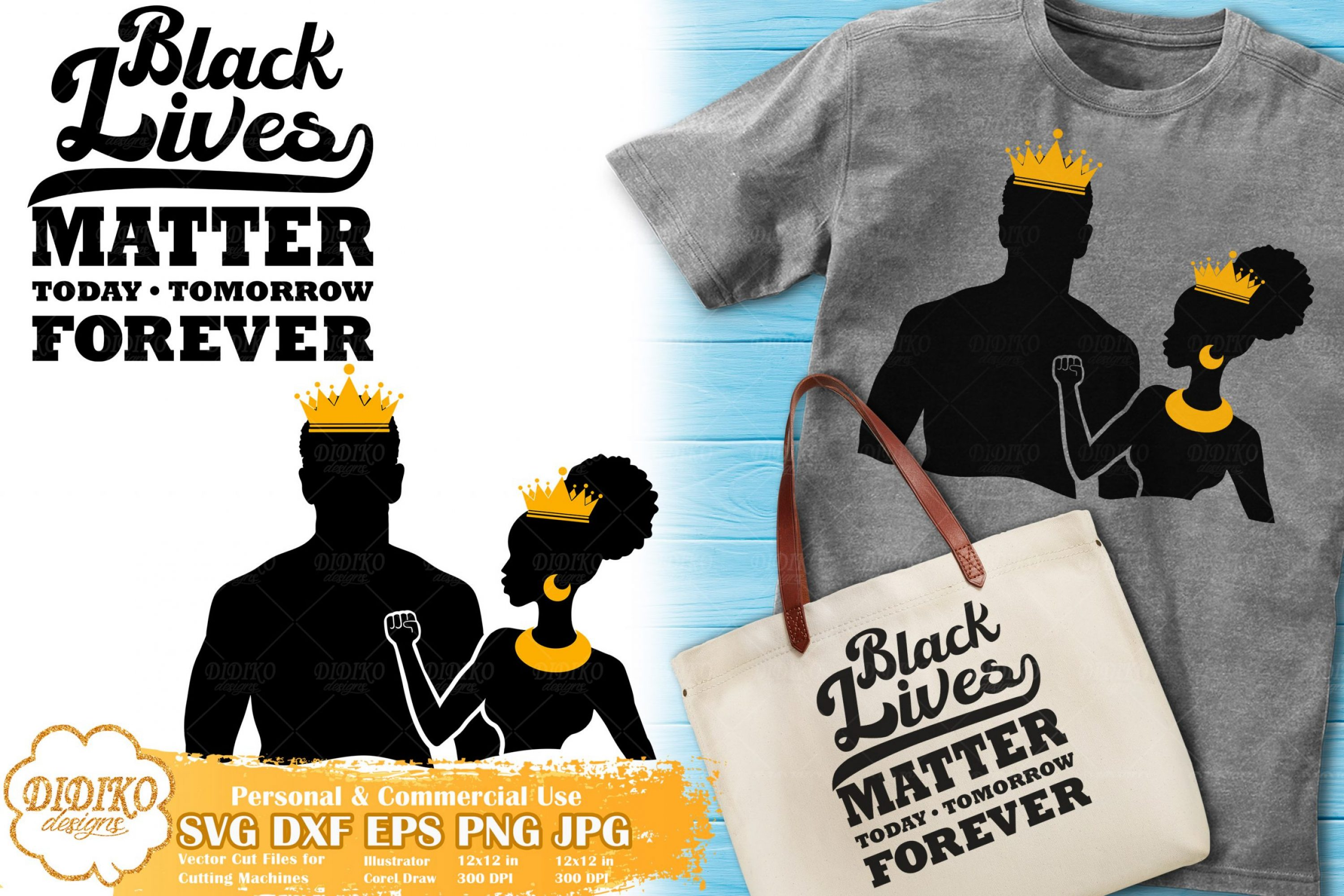 Black Lives Matter SVG #18 | Black Woman Bundle Svg