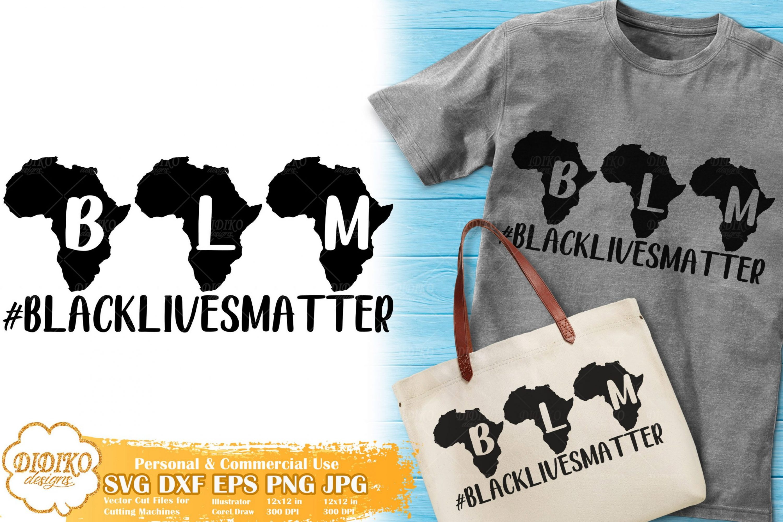 Black Lives Matter SVG #14 | Africa Silhouette Cut File