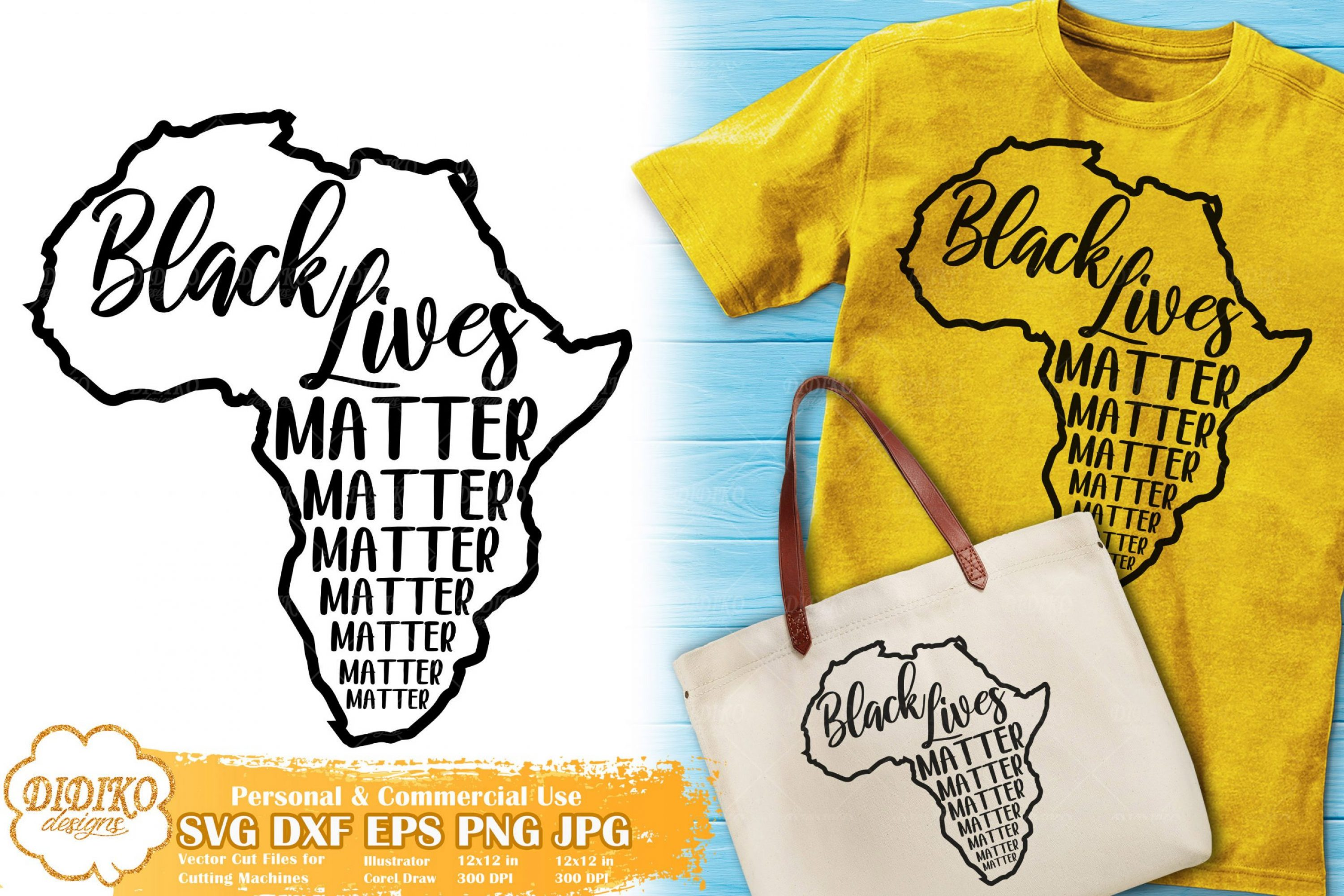 Black Lives Matter SVG #15 | Africa Map Silhouette SVG
