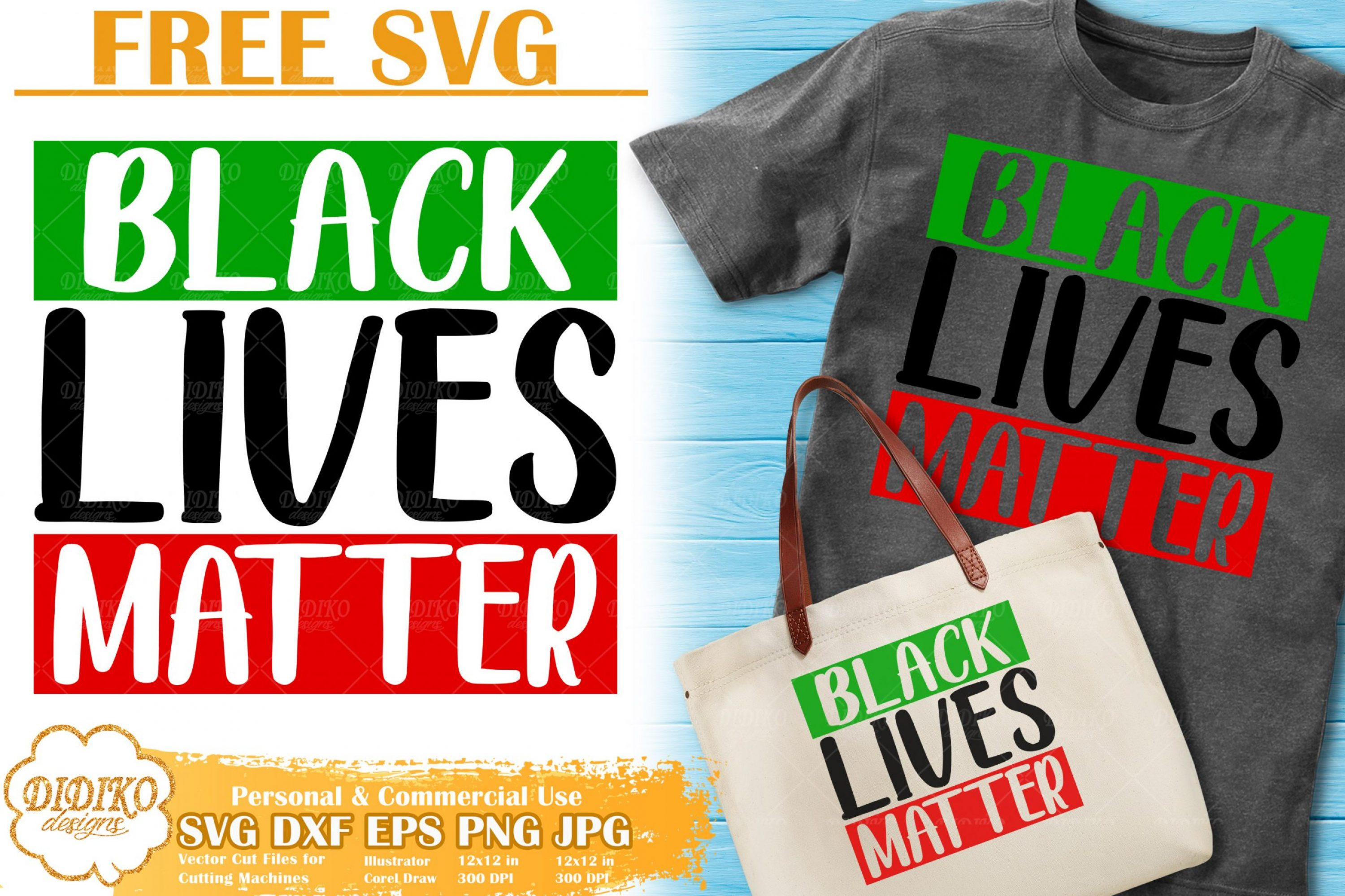 Black Lives Matter SVG Free | Black Woman Cut File