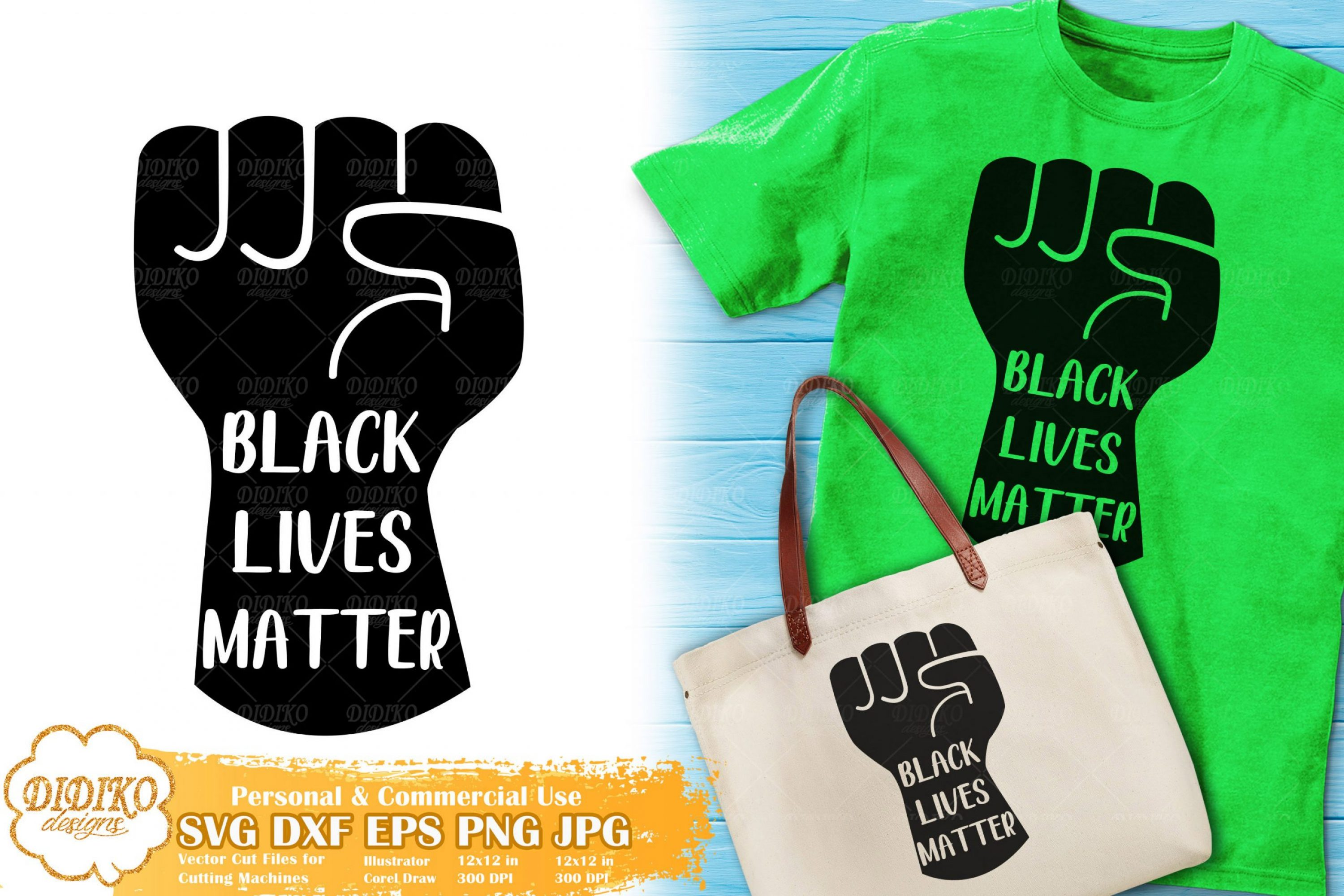 Black Lives Matter SVG #17 | Raised Fist Cut File