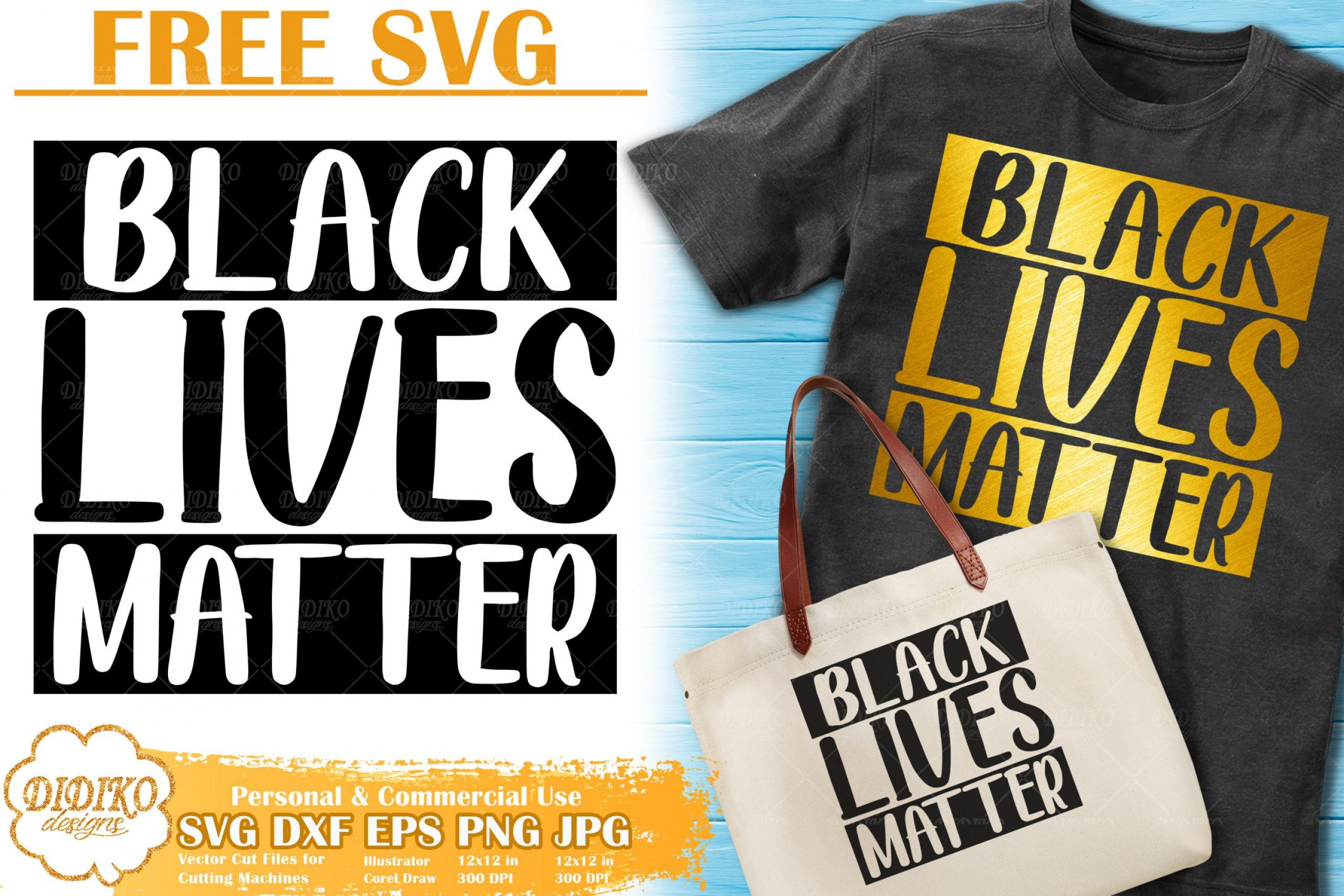 Black Lives Matter Free SVG | Black Woman Cut Files