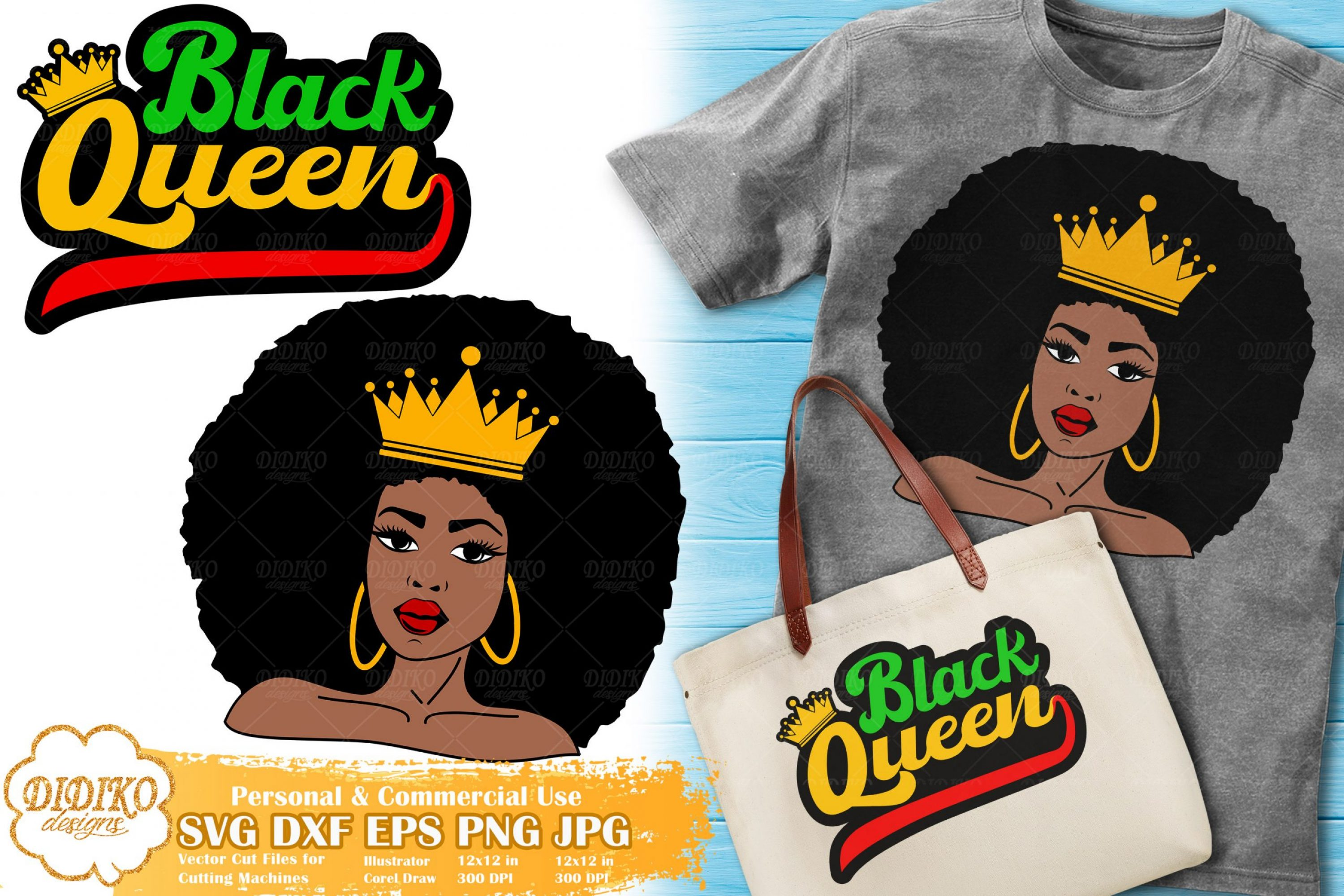 Black Queen SVG #7 | Black Woman Bundle Cut File
