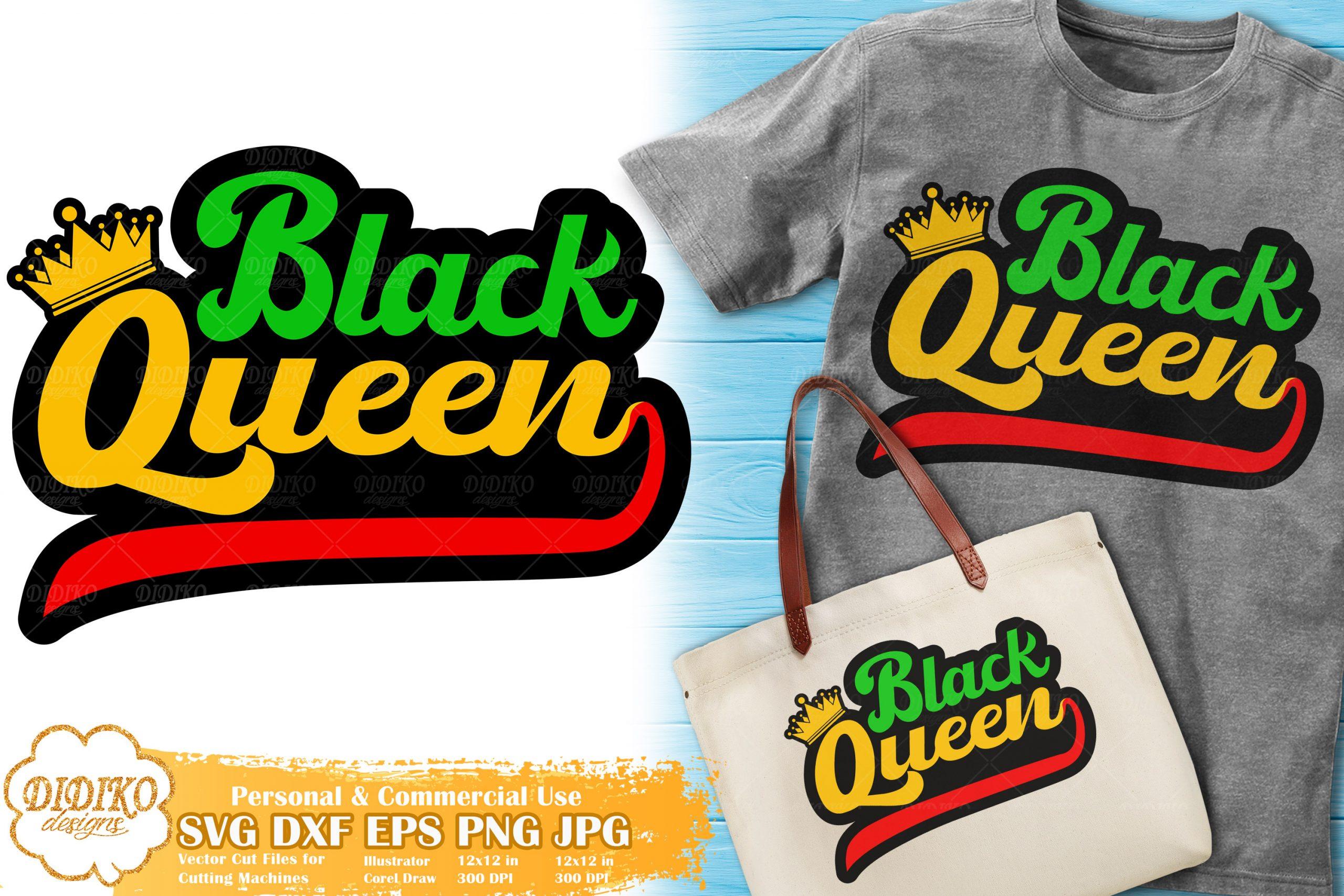 Download Black Queen SVG #7 | Black Woman Bundle Cut File | DIDIKO ...