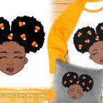 Halloween Black Girl SVG #1