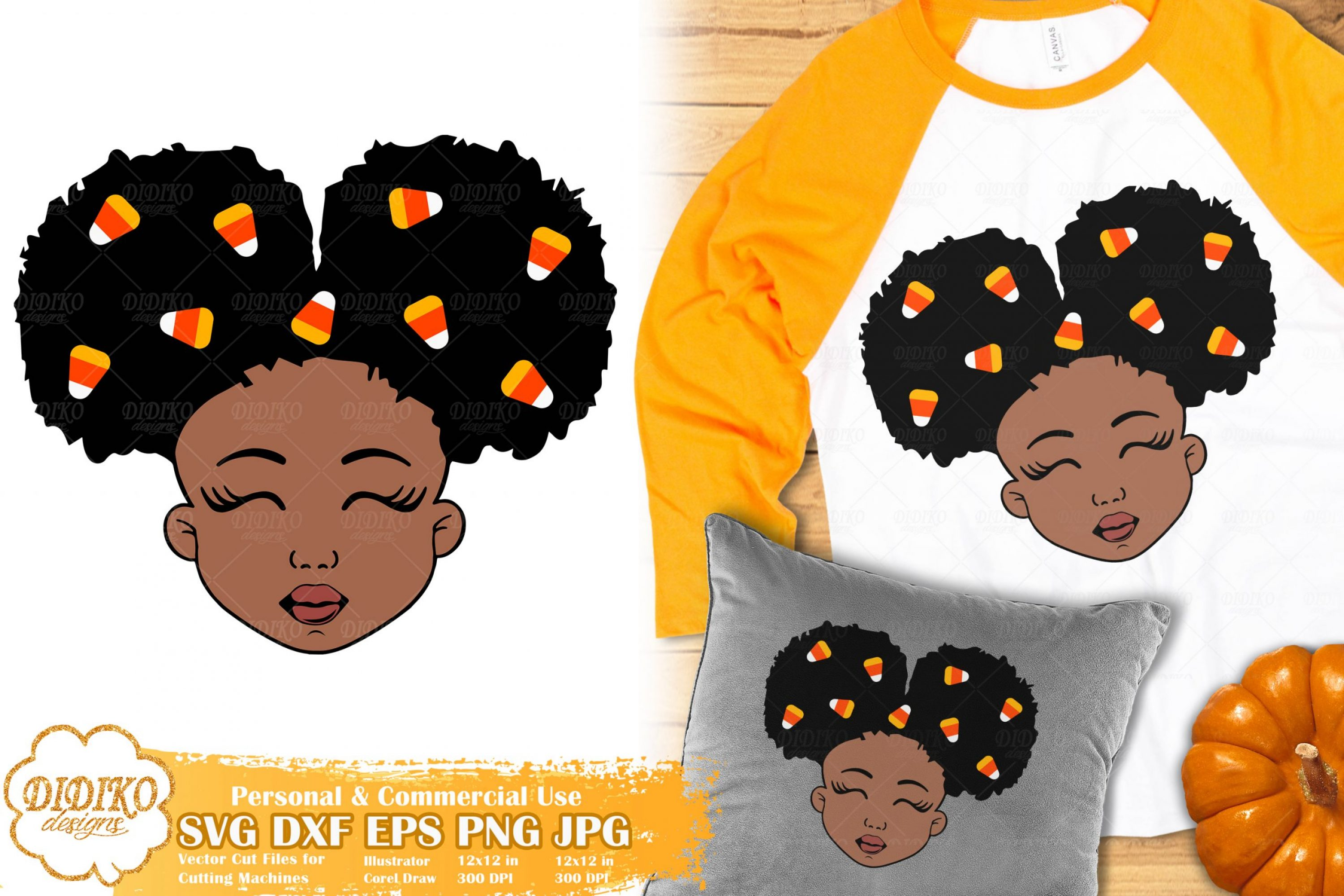 Halloween Black Girl SVG #1 | Candy Corn svg | Fall svg