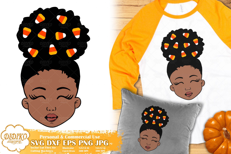 Halloween Black Girl SVG #2 | Candy Corn svg | Fall svg