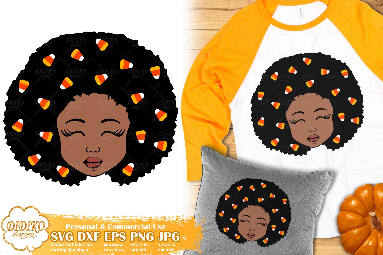Halloween Black Girl SVG #3 | Candy Corn svg | Fall svg