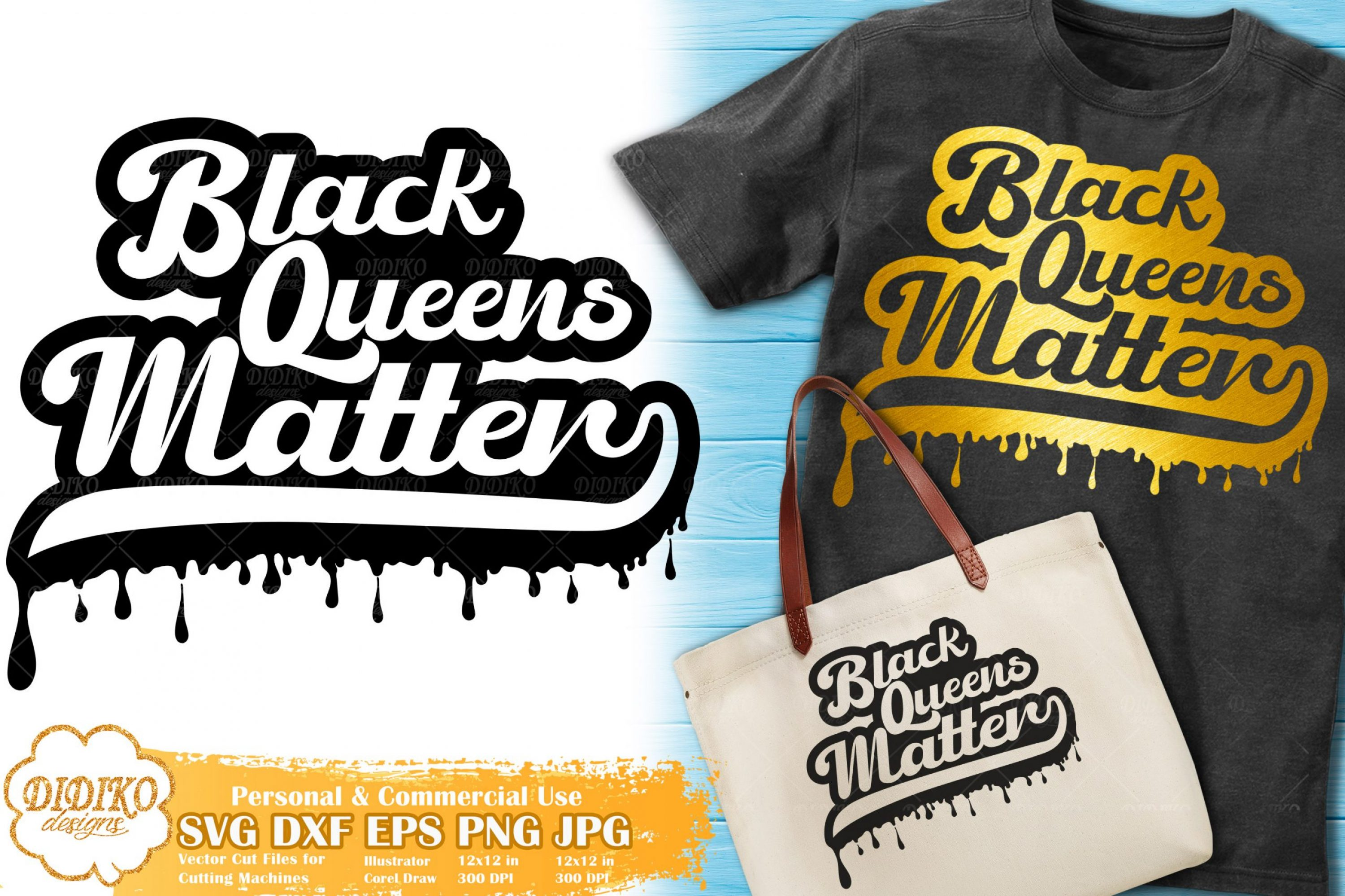 Black Queen SVG #9 | Dripping svg | Black Lives Matter