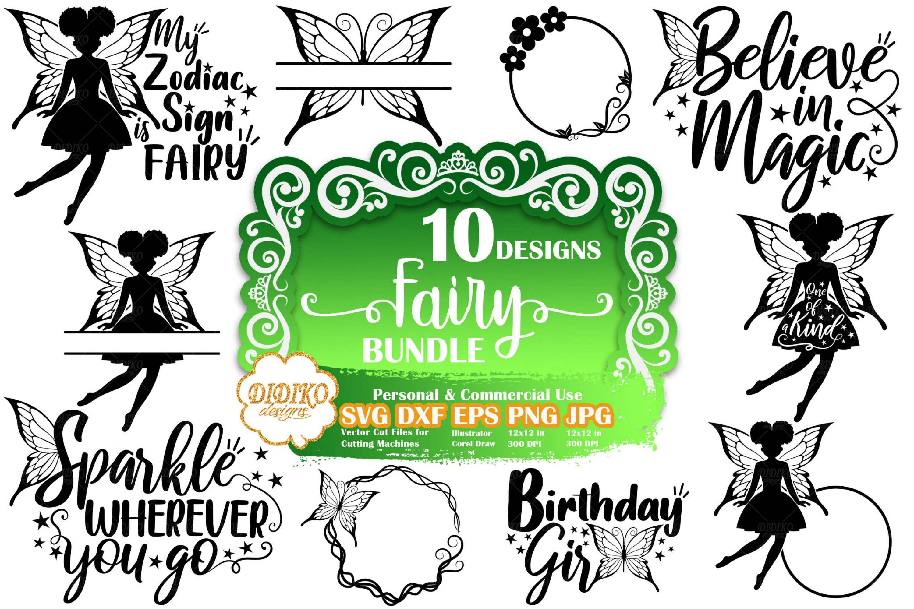 Fairy SVG Bundle #2 | Fairy Quote Svg | Silhouette SVG