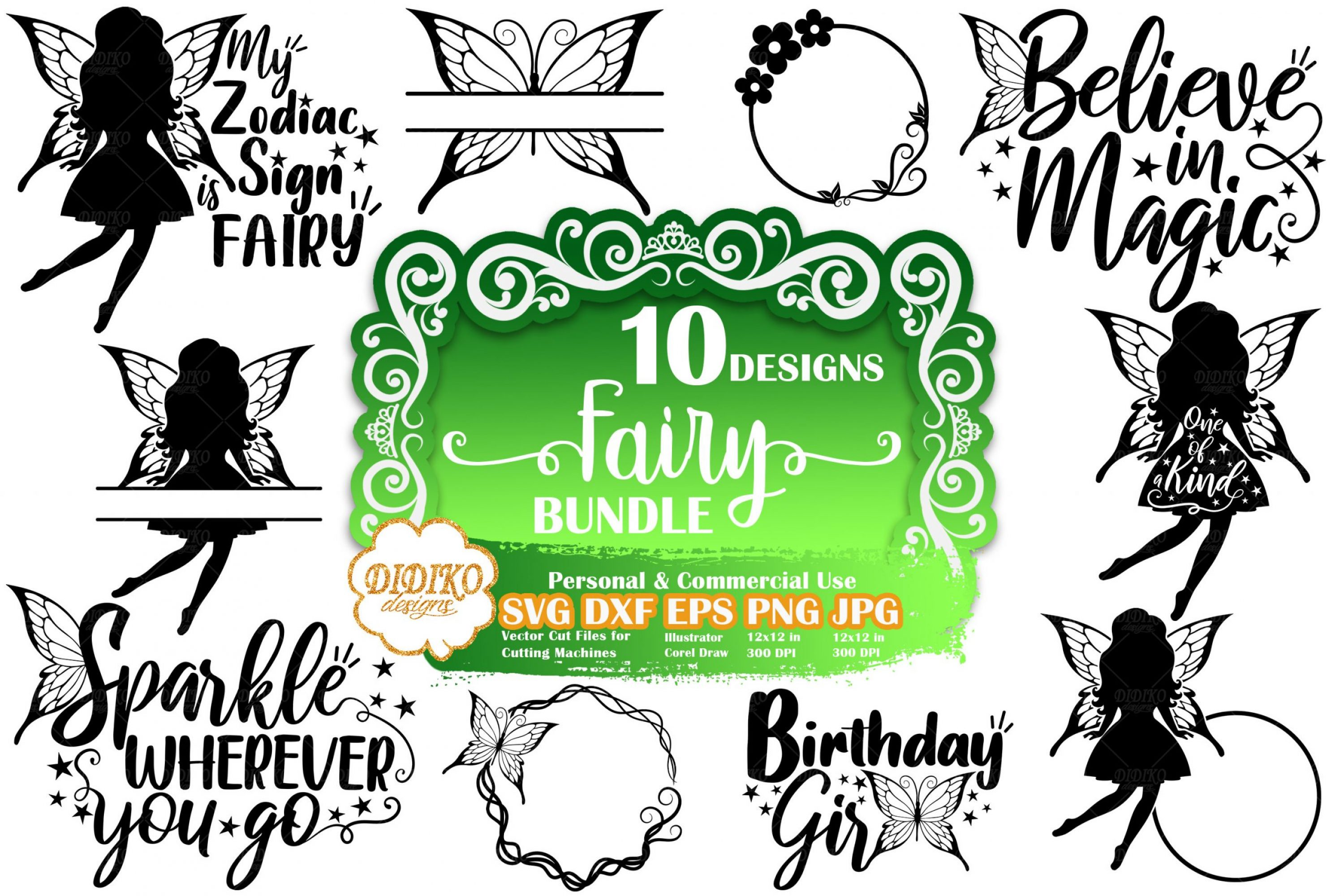 Fairy SVG Bundle #1 | Fairy Quote Svg | Silhouette SVG