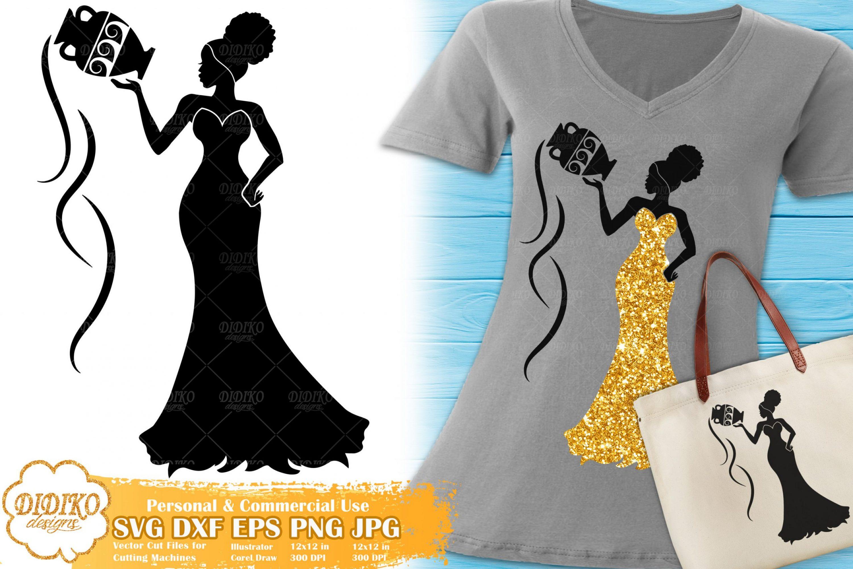 Aquarius SVG #1 | Black Woman SVG | Afro Woman svg
