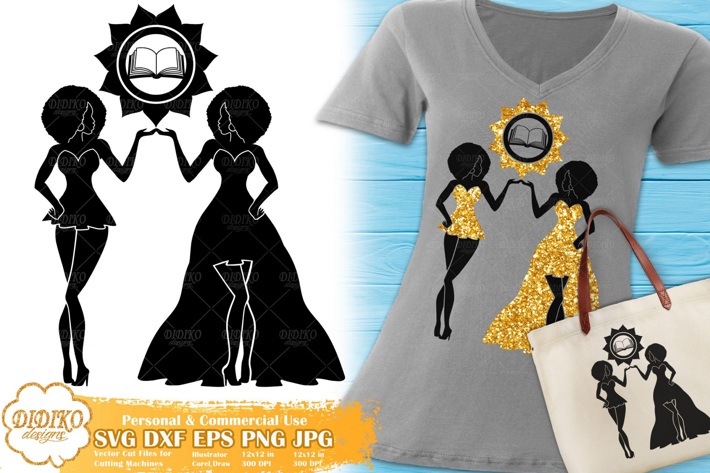 Gemini SVG #1 | Black Woman SVG | Afro Woman SVG