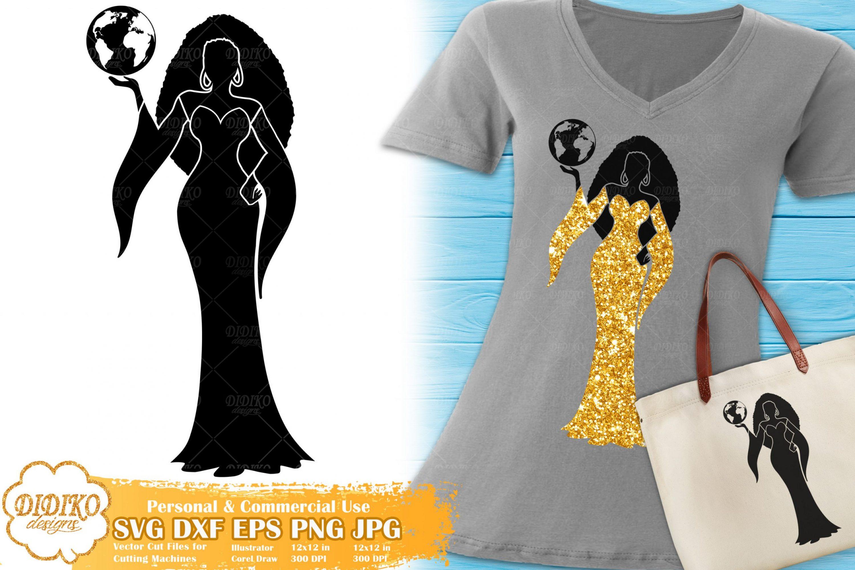 Virgo SVG #1 | Black Woman SVG | Afro Woman SVG