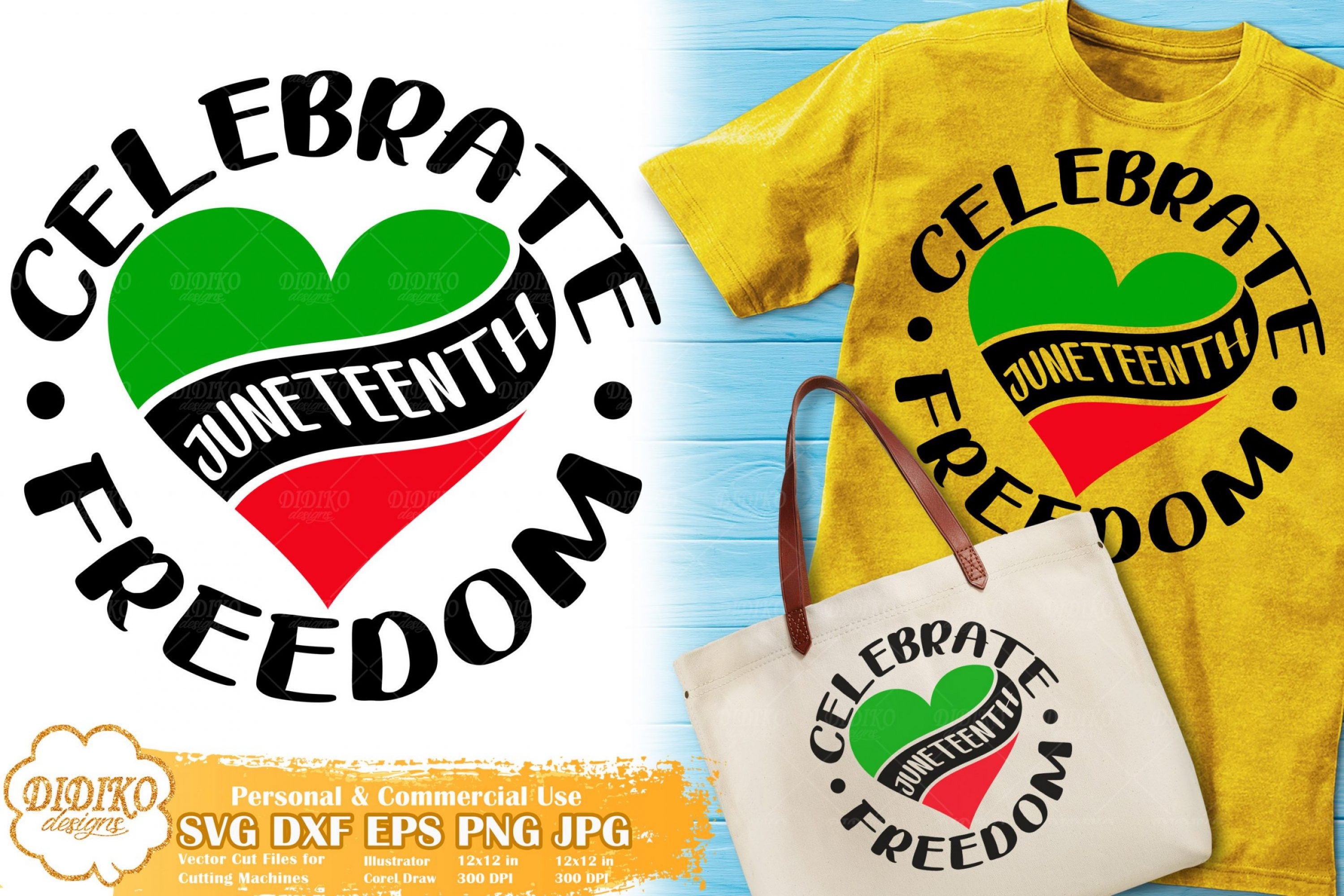 Juneteenth SVG #1 | Celebrate Freedom SVG Cut File
