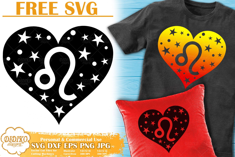 Leo SVG Free | Zodiac Sign SVG | Astrology Cut File
