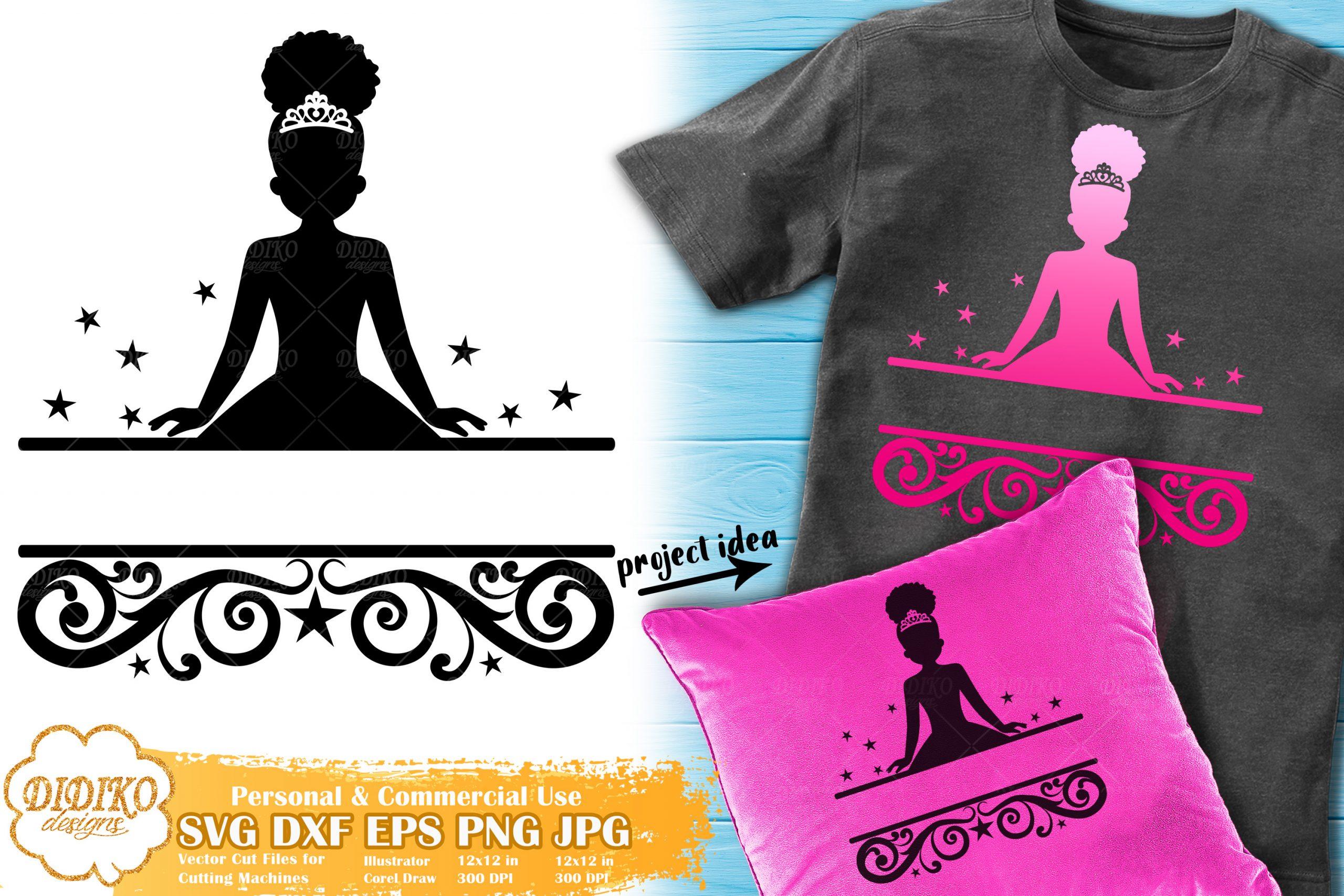 clean cutting commercial files Cricut /& Silhouette Cameo svg Little Princess svg Girl svg princess svg Fancy Girl Design svg DXF EPS