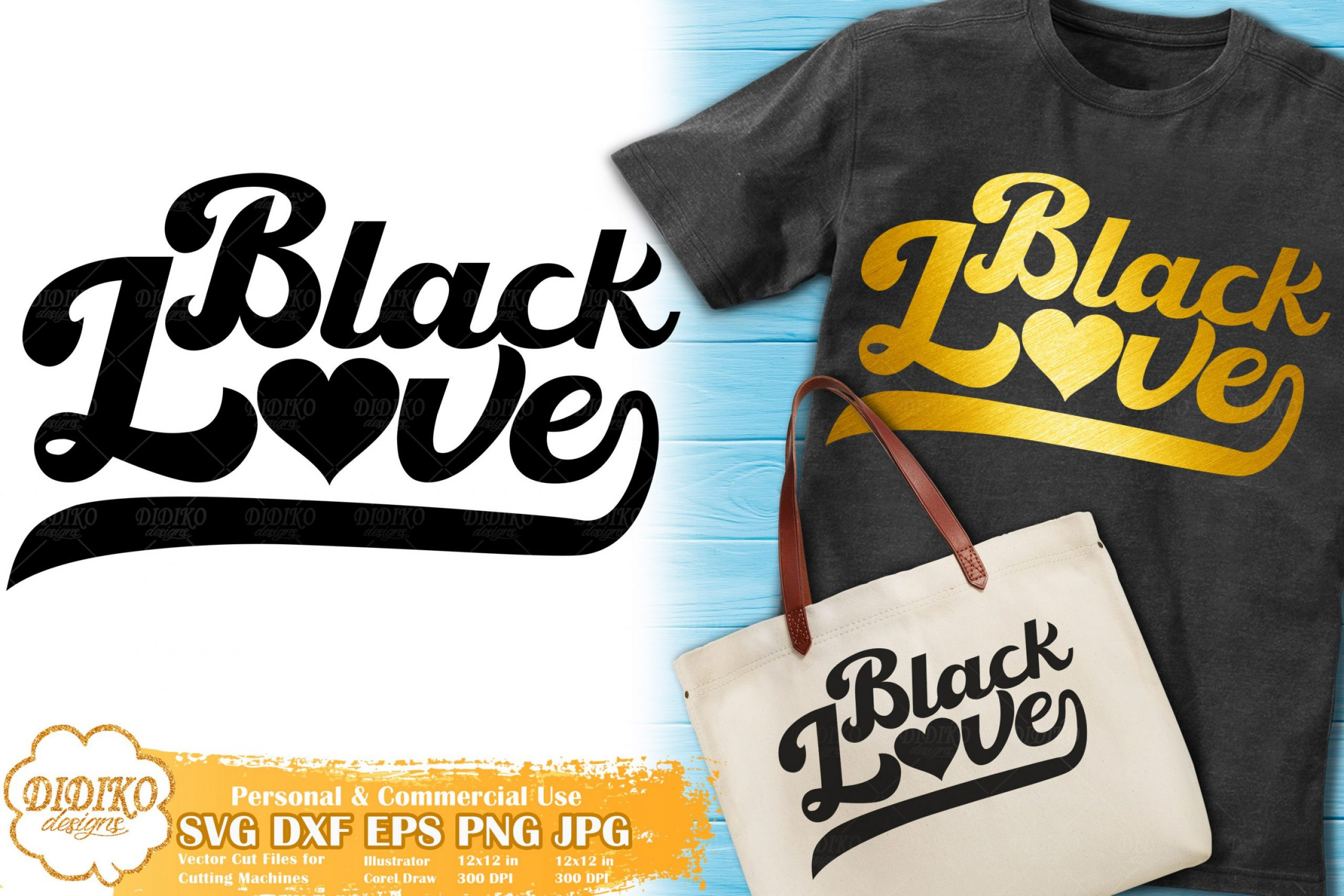 Black Love SVG #4 | Retro SVG | Black Lives Matter Svg