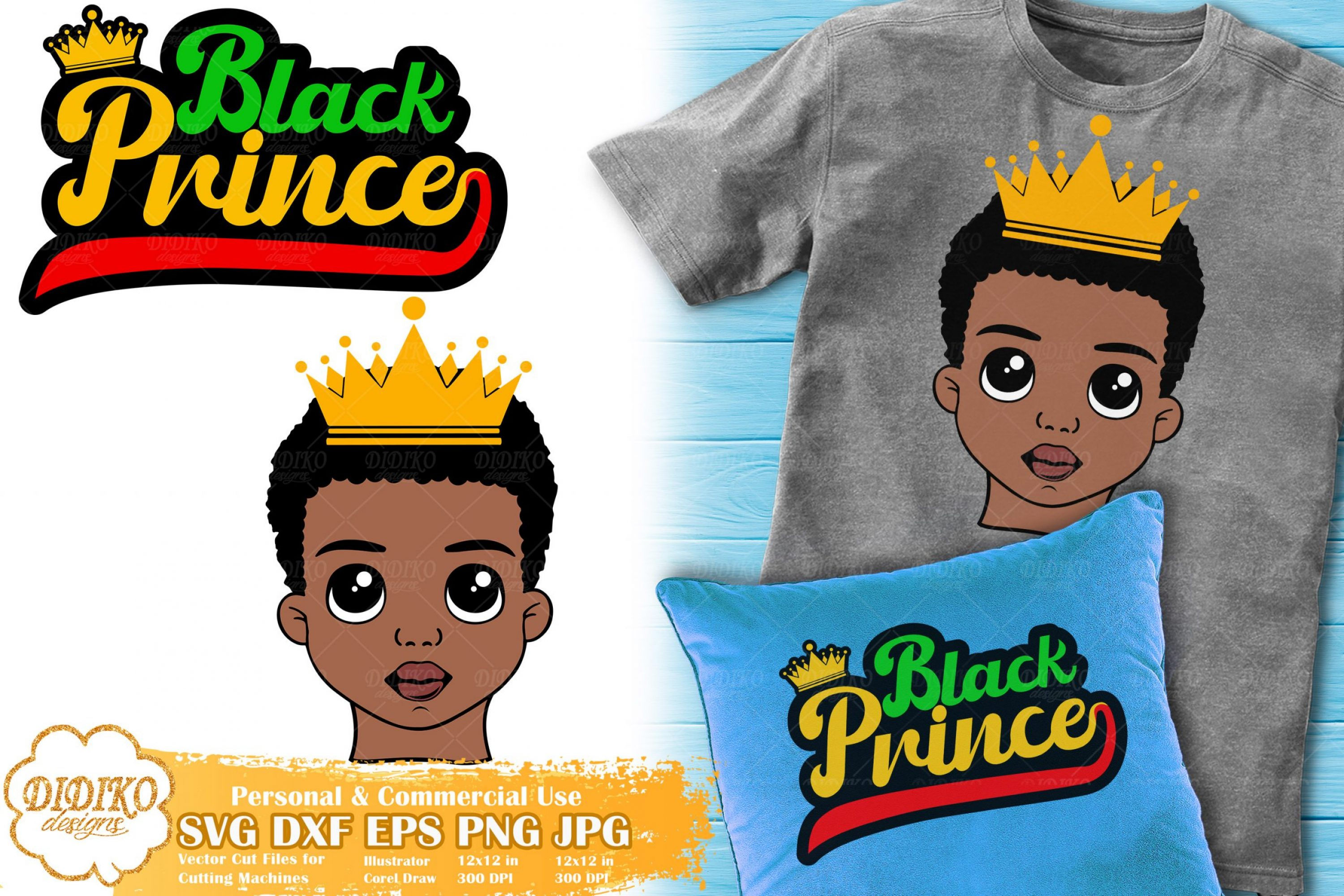 Black Prince SVG #5 | Black Boy Bundle Svg Cricut File