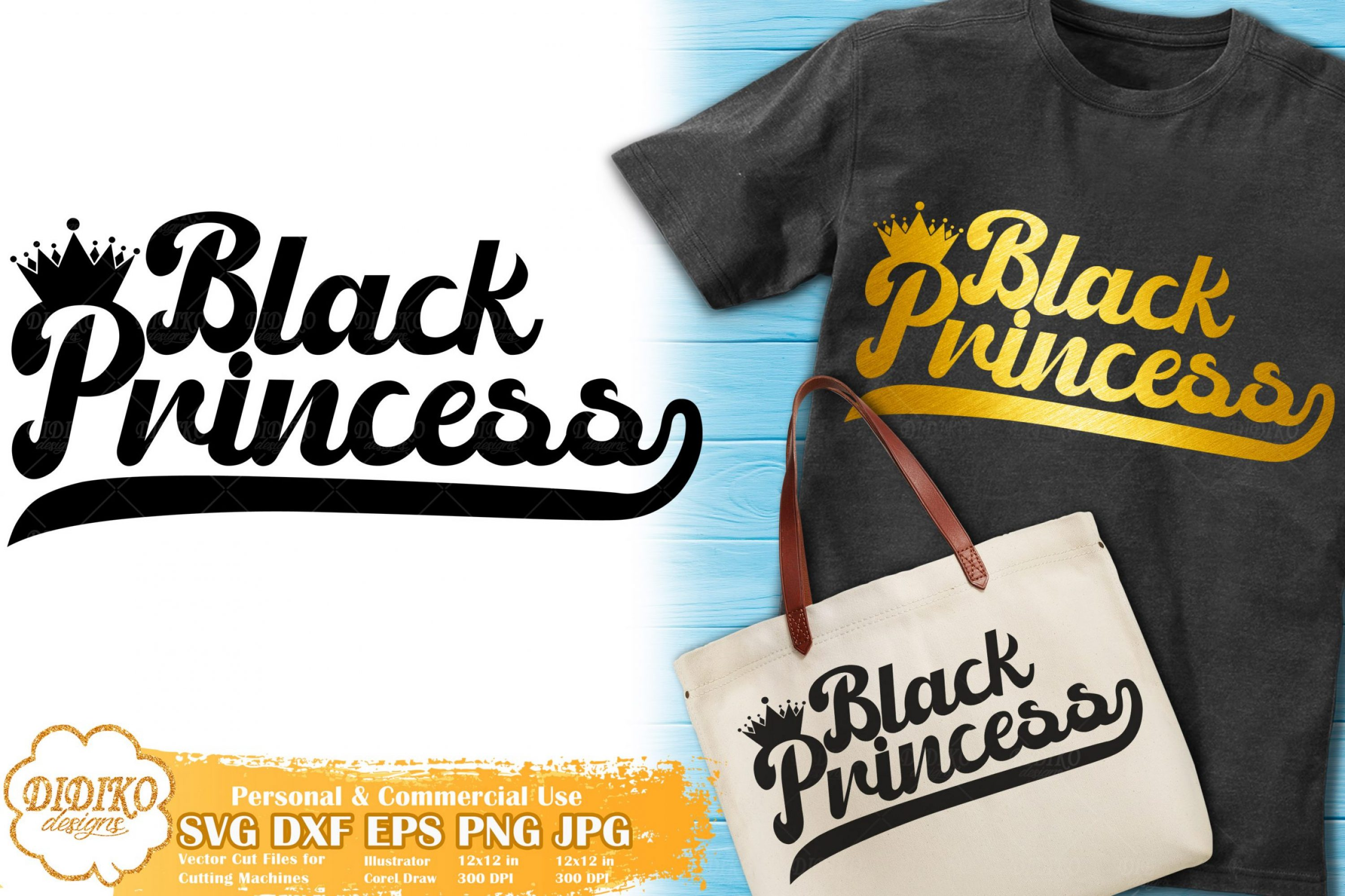 Black Princess SVG #11 | Retro Svg | Black Girl Svg File