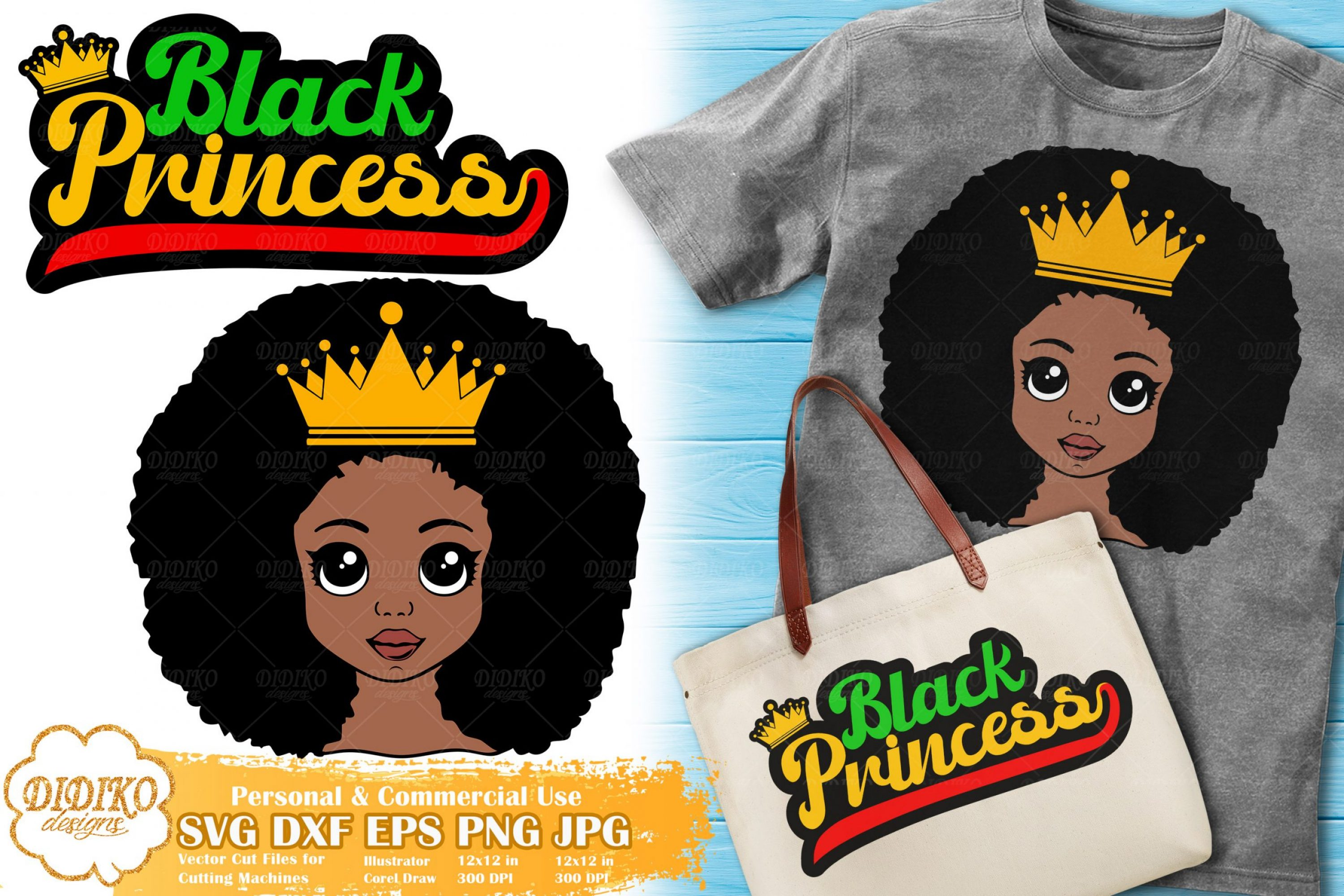 Black Princess SVG #9 | Black Girl Bundle svg Cricut file