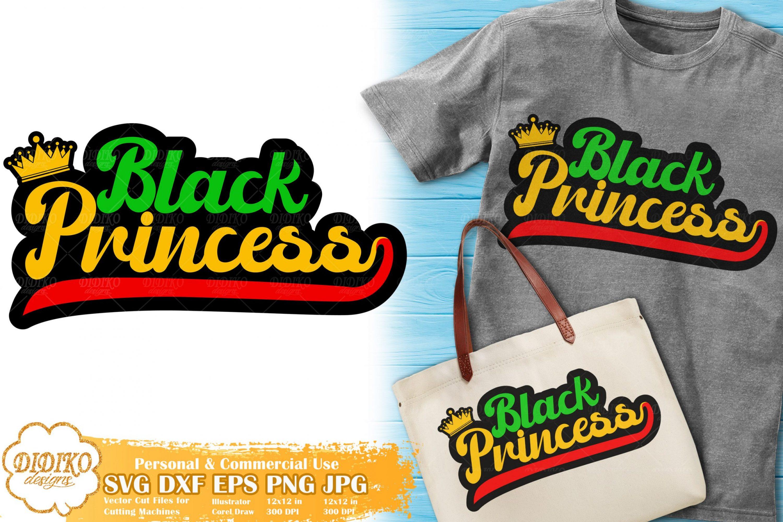 Black Princess SVG #9 | Retro Svg | Black Girl Crown