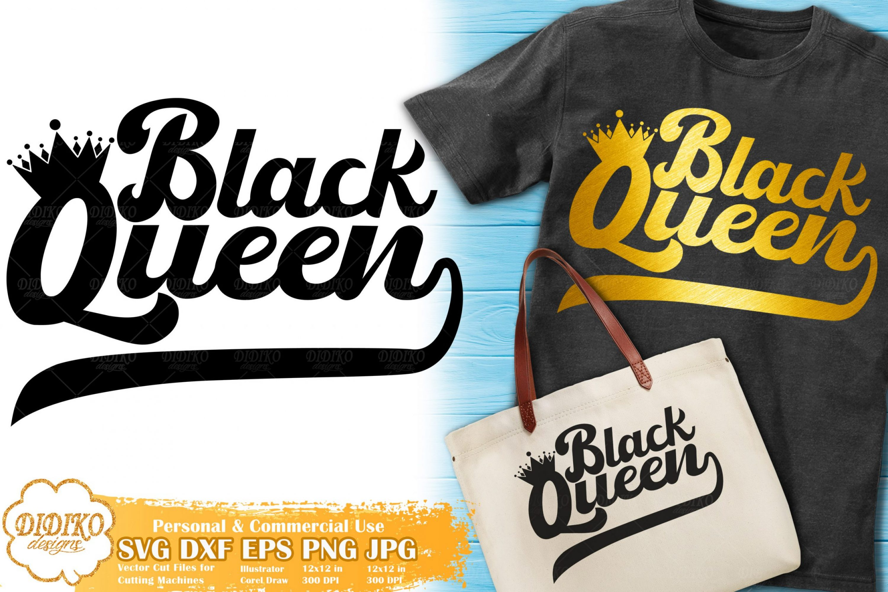 Black Queen SVG #9 | Retro SVG | Black Woman svg
