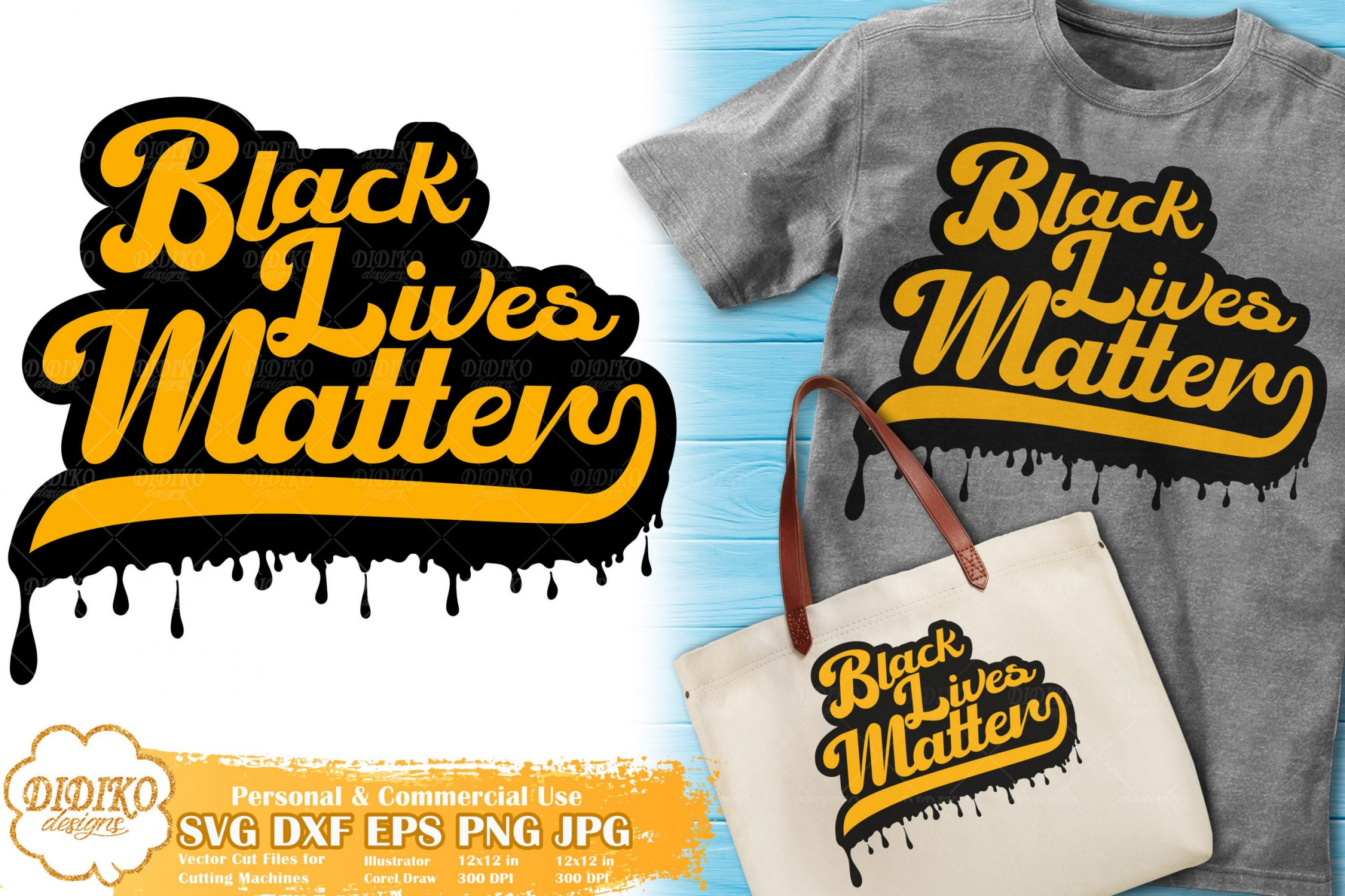 Black Lives Matter SVG #10 | dripping svg | black woman