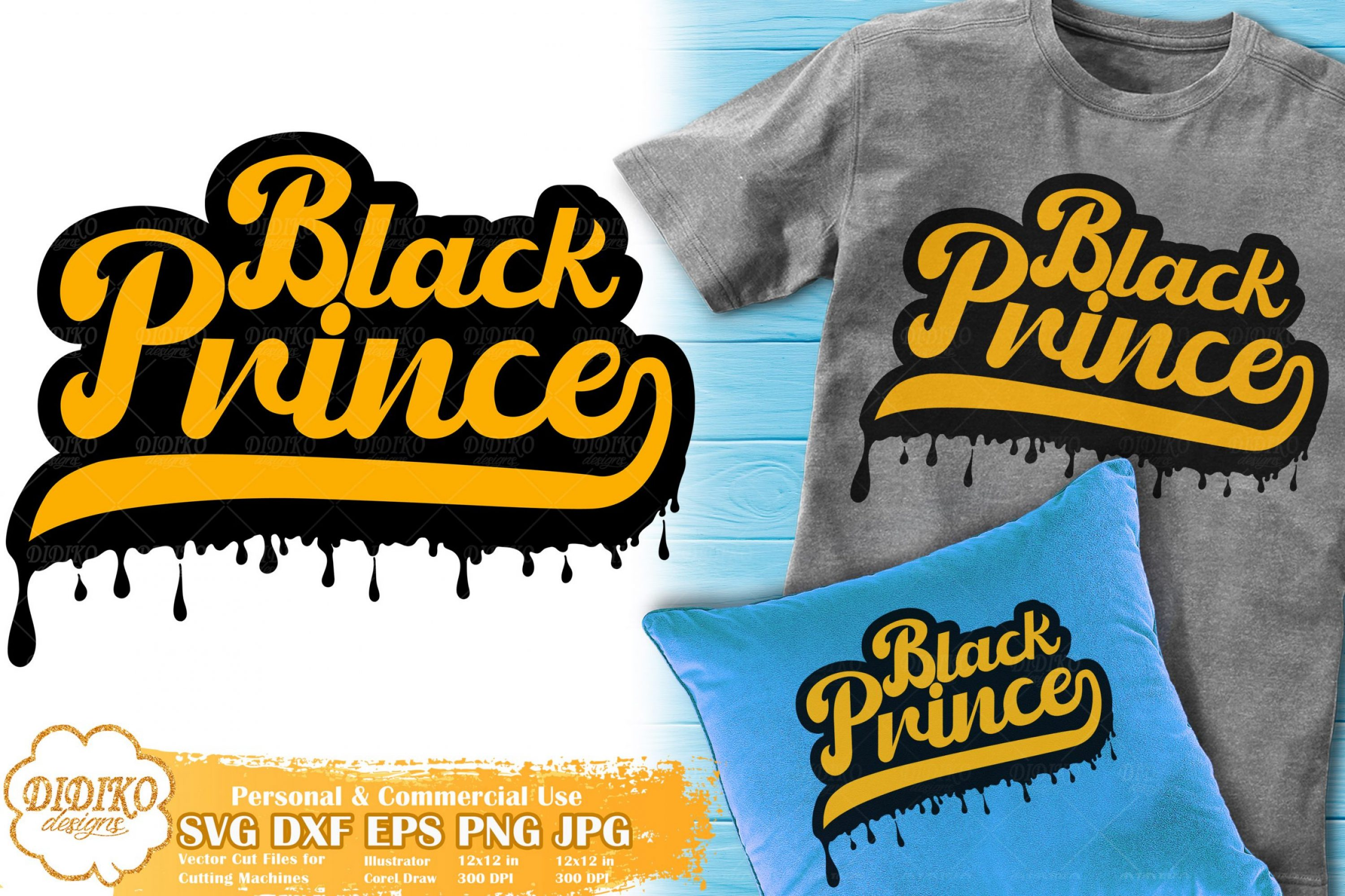Black Prince SVG #6 | Dripping Svg | Black Boy Retro