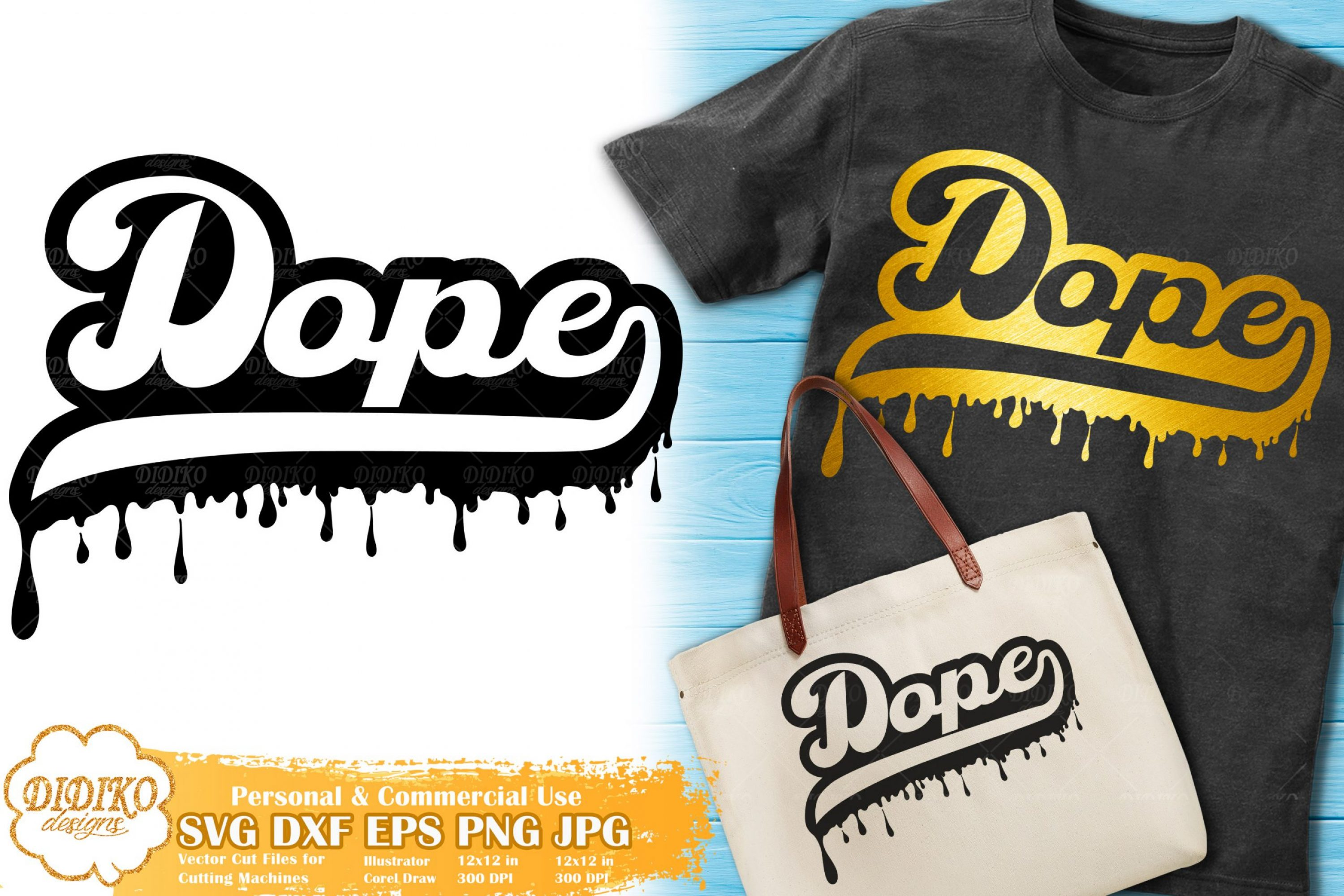 Dope Dripping SVG #1 | Black Woman SVG Cut File