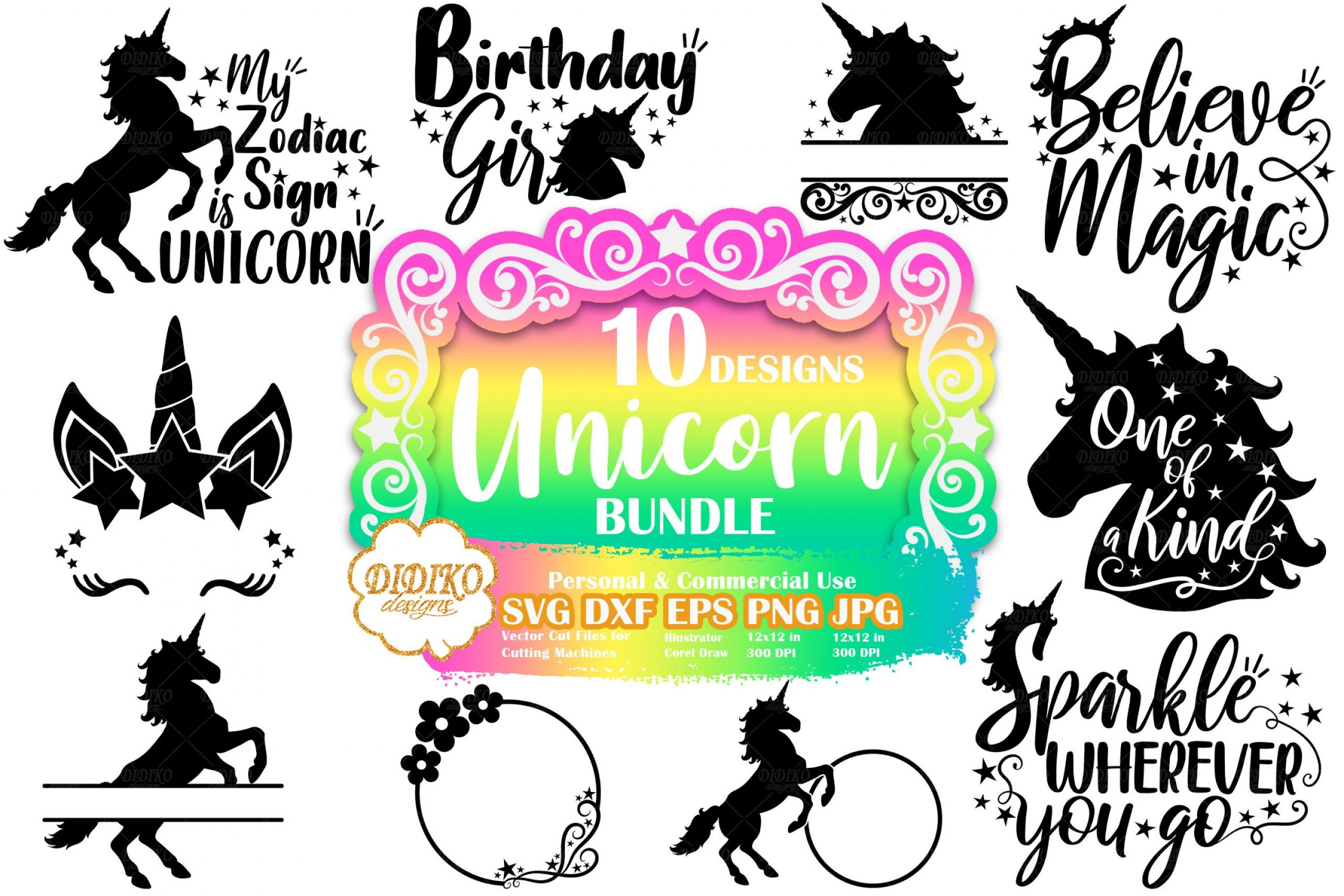 Unicorn SVG Bundle | Unicorn Quote Svg | Silhouette file