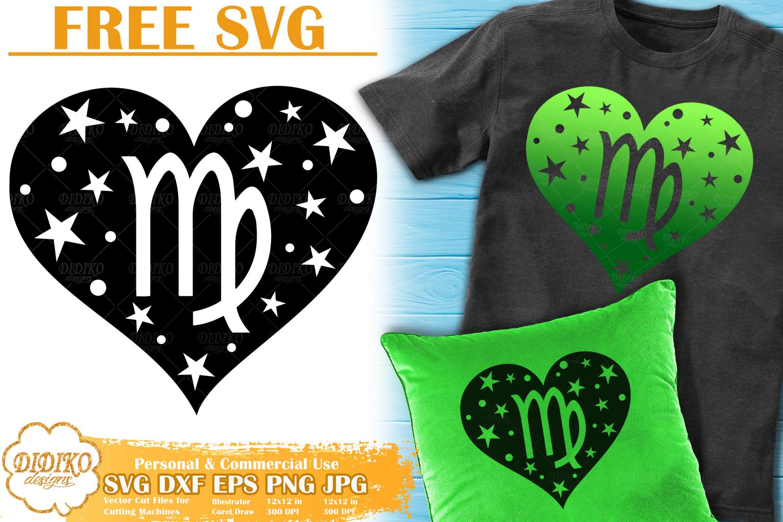 Virgo SVG Free | Zodiac Sign SVG | Astrology Cut File