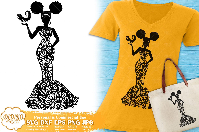 Capricorn SVG   Black Woman SVG   Zentangle Cut File