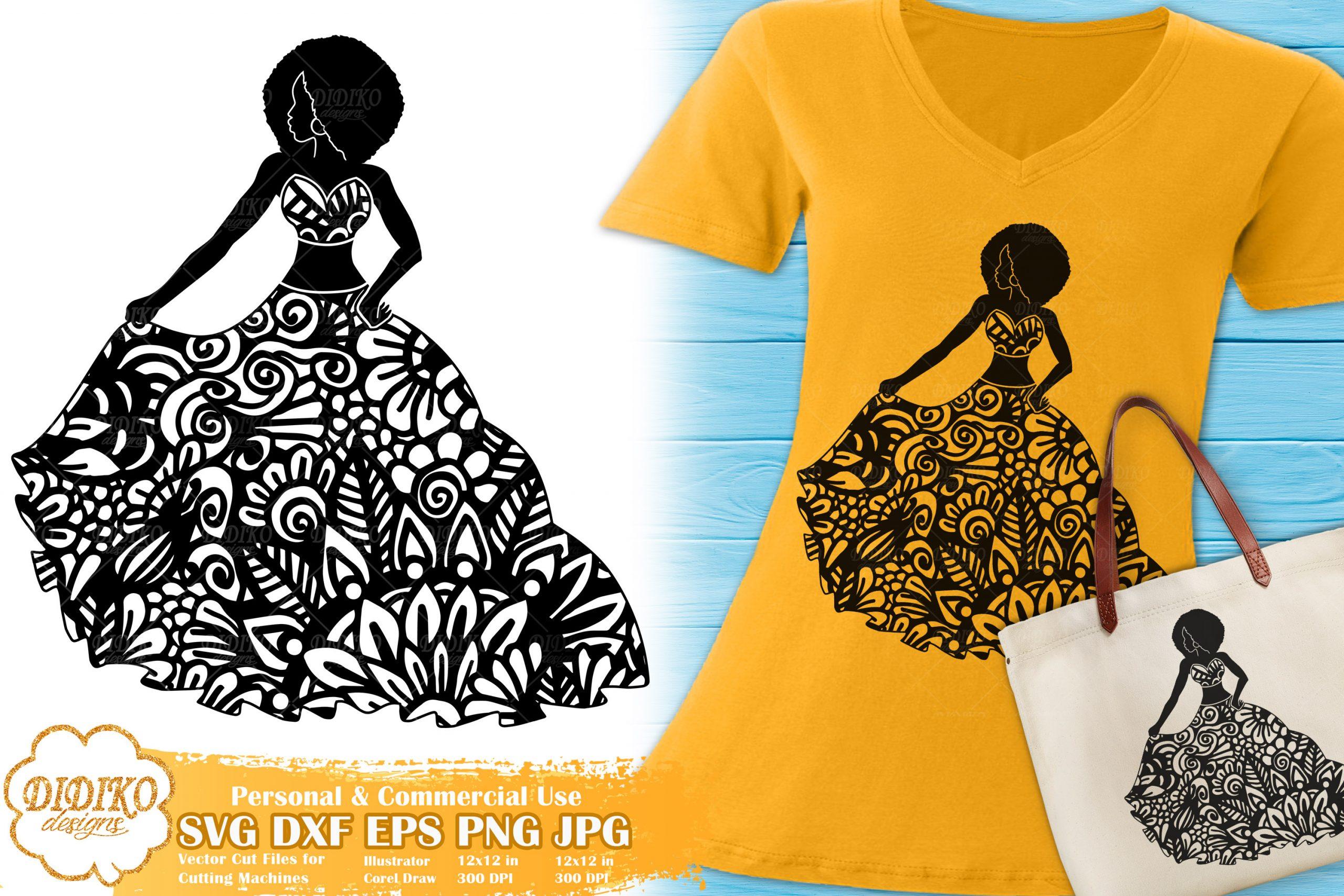 Black Woman Fashion SVG #3