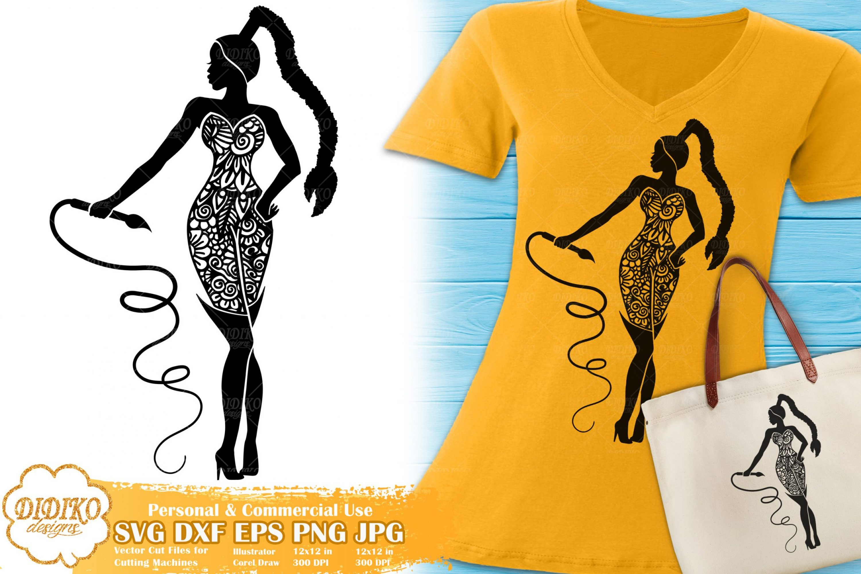 Scorpio SVG | Black Woman SVG | Zentangle Cricut File