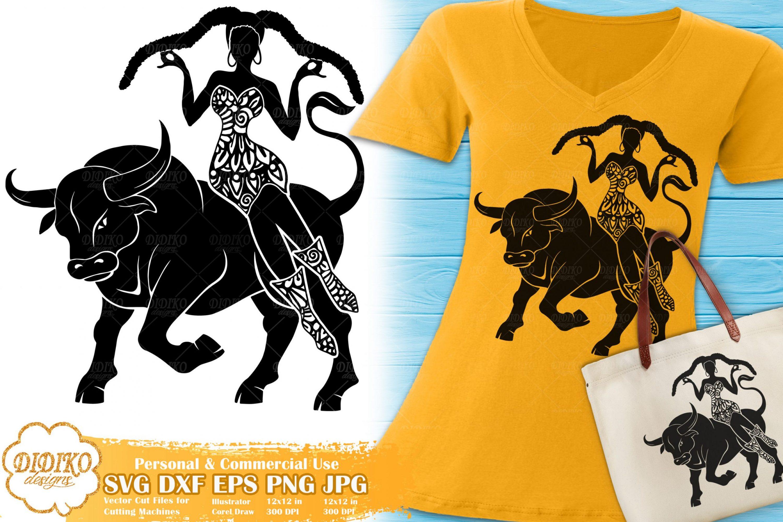 Taurus SVG   Black Woman SVG   Zentangle Cricut File