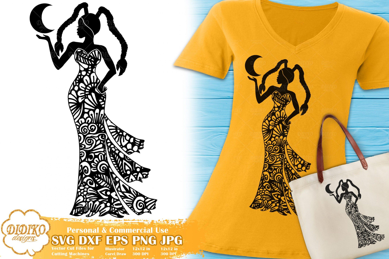 Cancer SVG   Black Woman SVG   Zentangle Cricut File