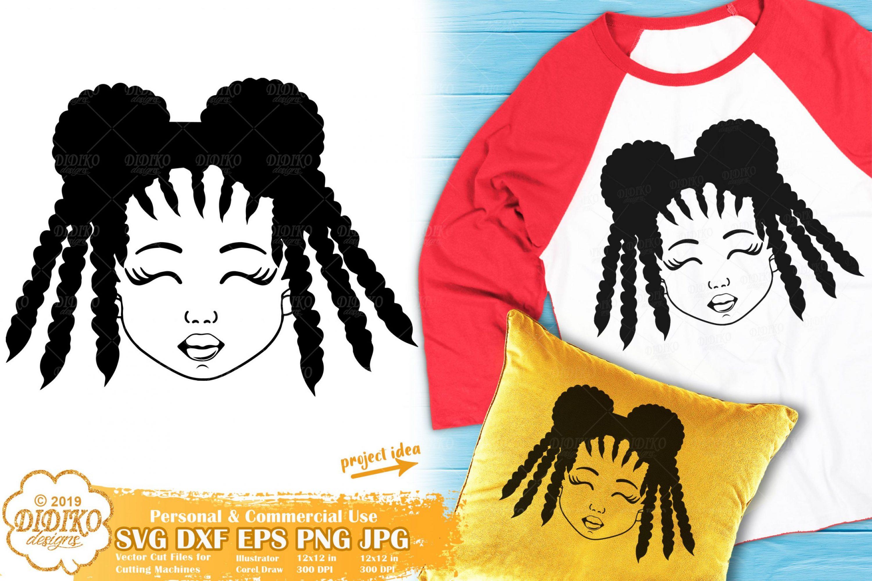 Black Girl SVG #8 | Afro Girl SVG | African American Svg