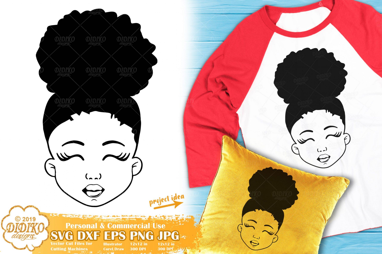 Black Girl SVG #6 | Afro Girl SVG | African American Svg