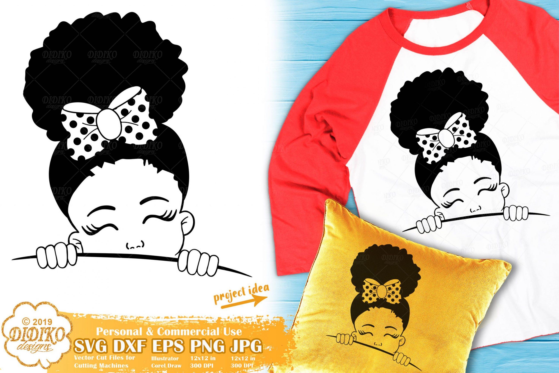 Peek a Boo SVG #2 | Black Girl SVG | Afro Peeking SVG