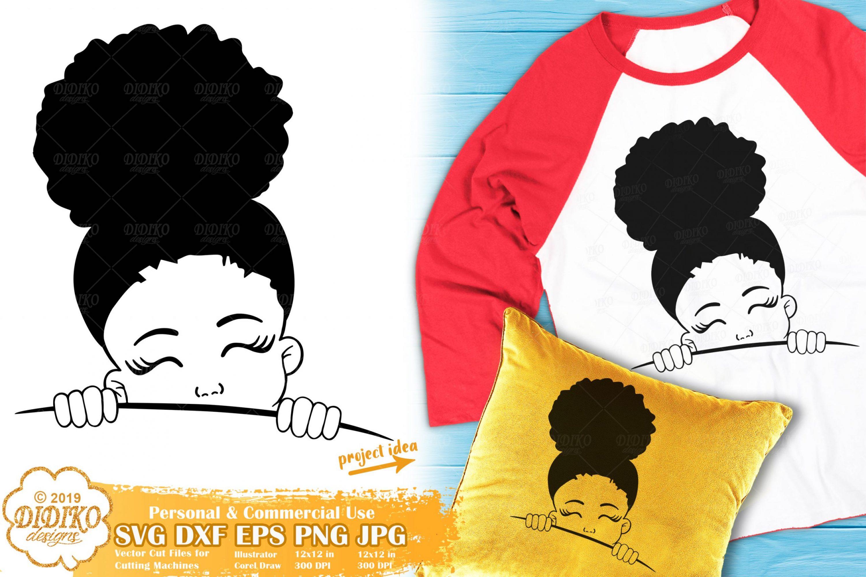 Peek a Boo SVG #14 | Black Girl Svg | Afro Peeking Svg