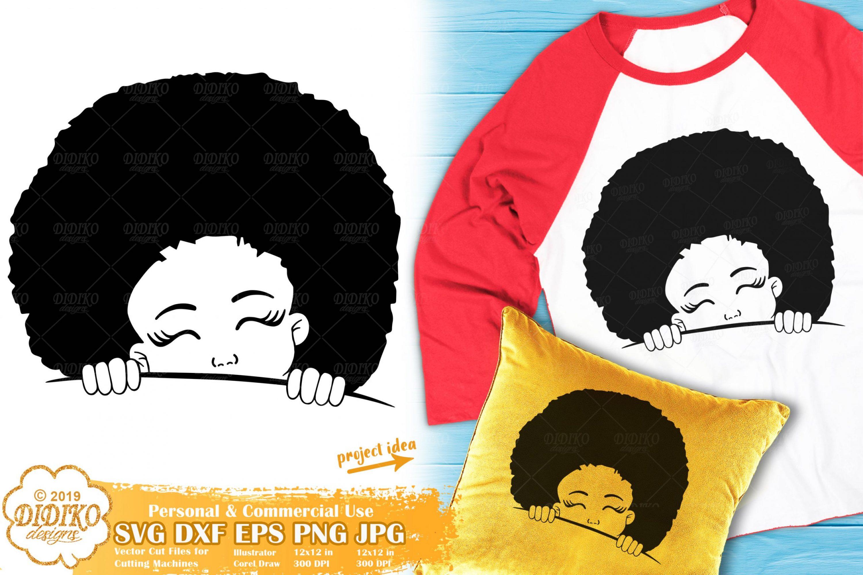 Peek a Boo SVG #15 | Black Girl Svg | Afro Peeking Svg