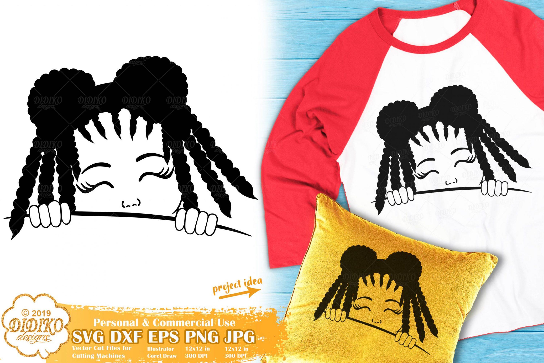 Peek a Boo SVG #16 | Black Girl Svg | Afro Peeking Svg