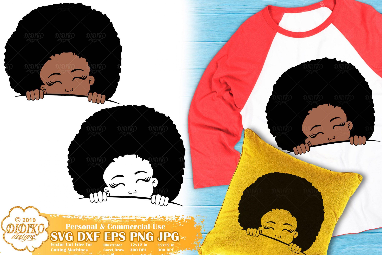 Peek a Boo Girl SVG #3 | Black Girl Svg | Afro Peeking