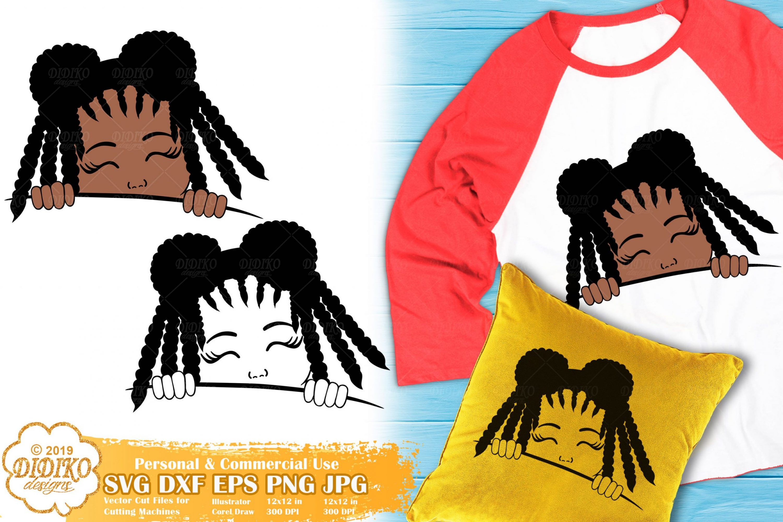 Peek a Boo Girl SVG #4 | Black Girl Svg | Afro Peeking