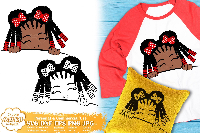 Peek a Boo Girl SVG #8 | Black Girl Svg | Afro Peeking