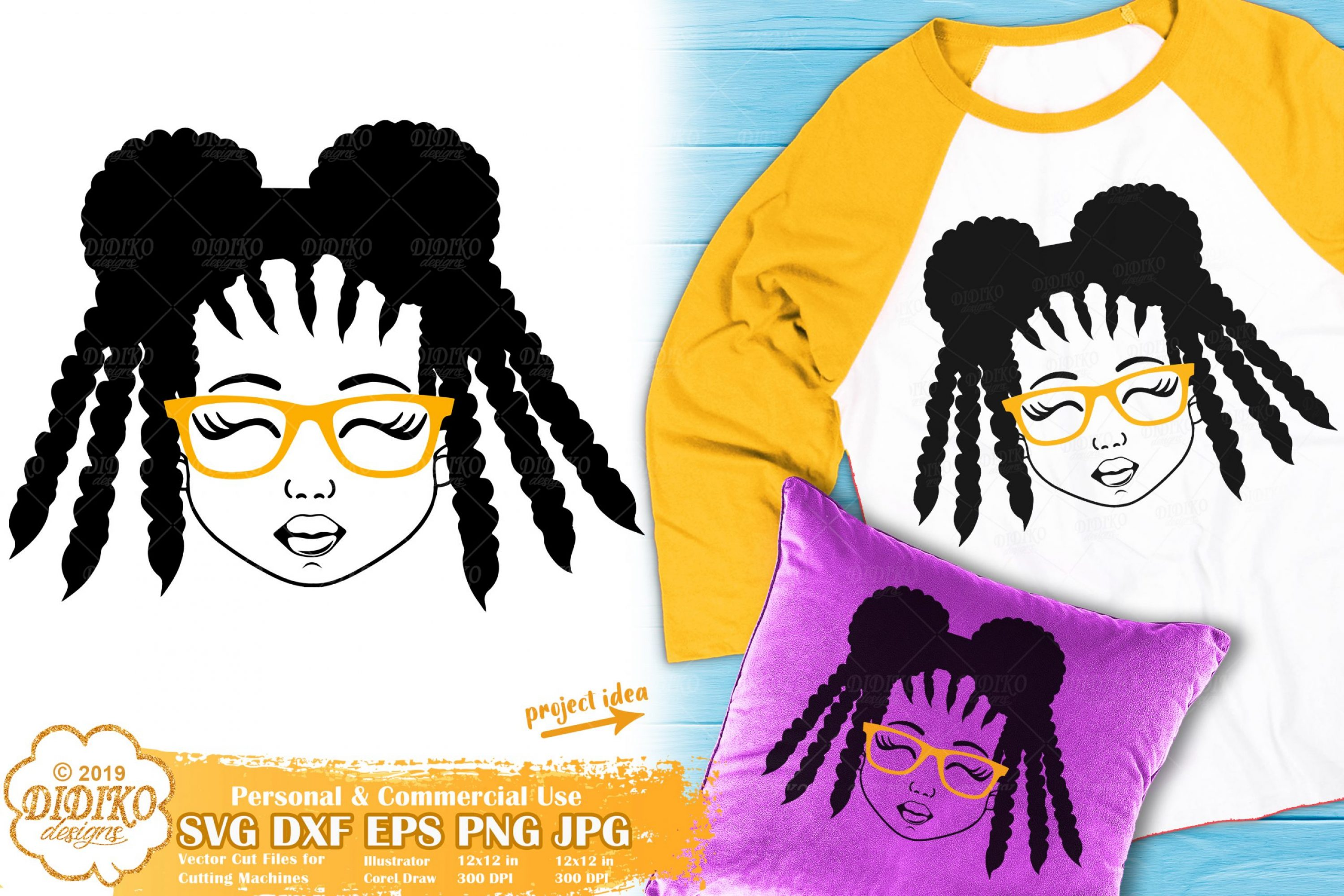 Black Girl with Glasses SVG #8   Afro Girl Svg Silhouette