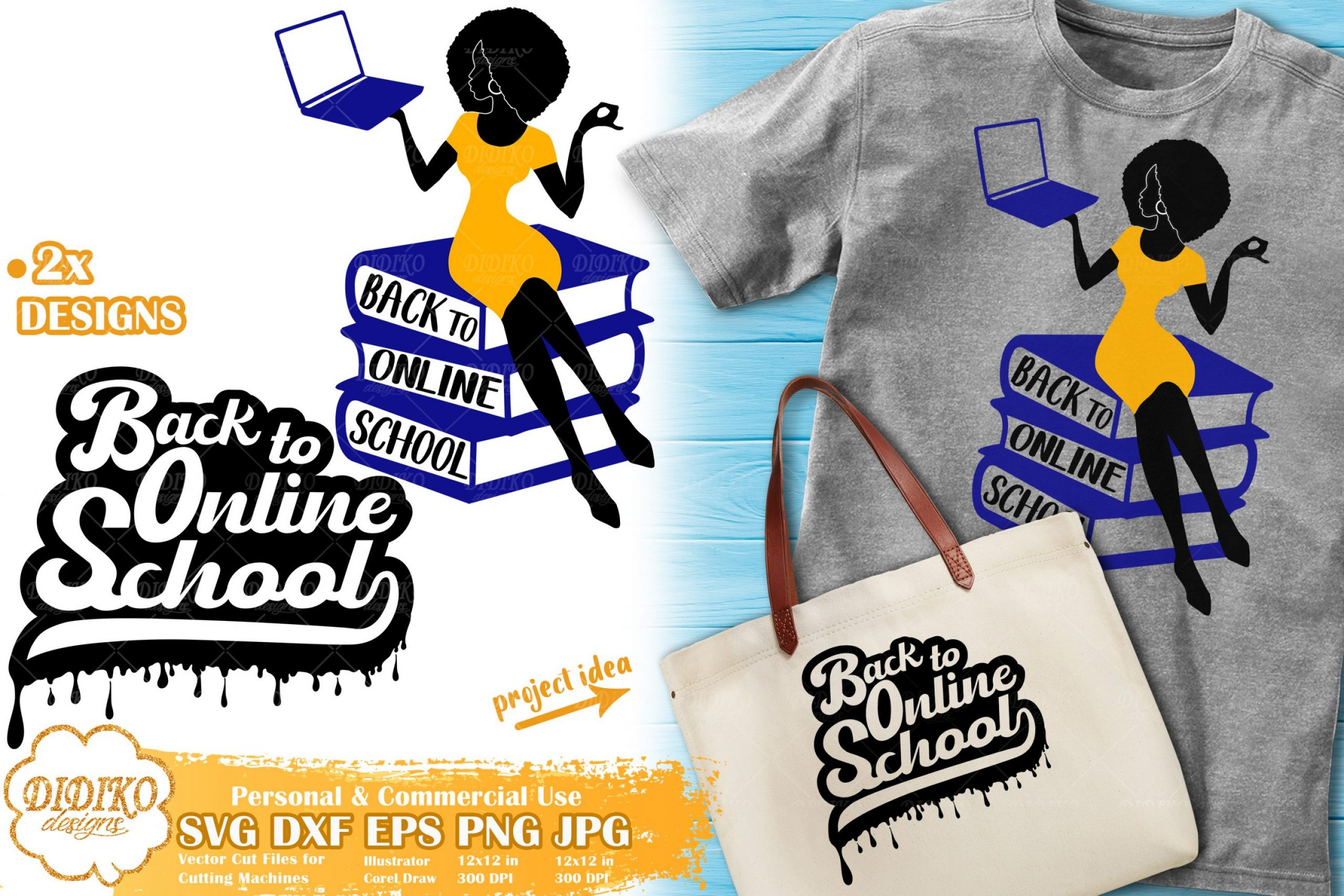 Black Teacher SVG #1 | Back To School SVG | Online School Cut File