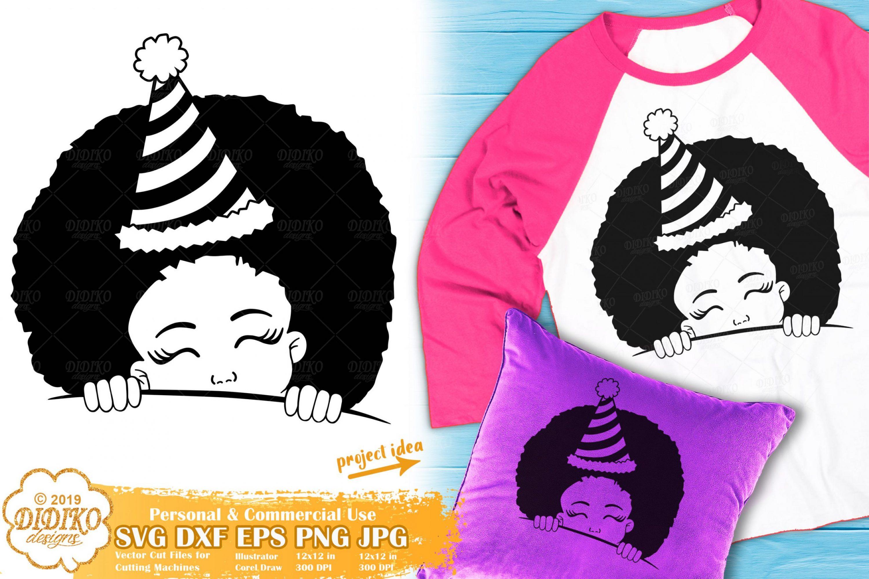 Peek a Boo SVG #7 | Birthday Girl SVG | Black Girl SVG